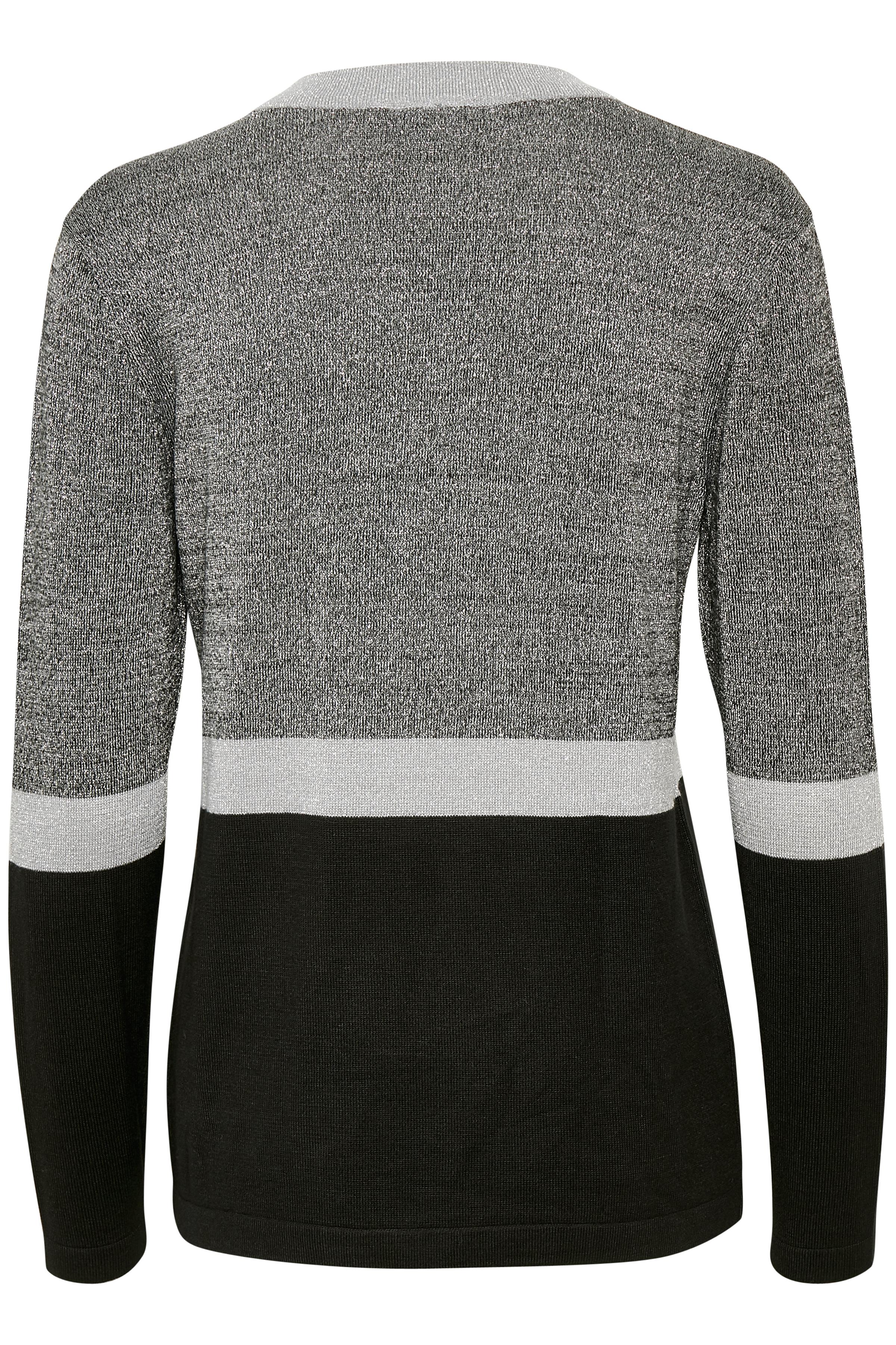 Silver/svart Stickad pullover från Fransa – Köp Silver/svart Stickad pullover från stl. XS-XXL här