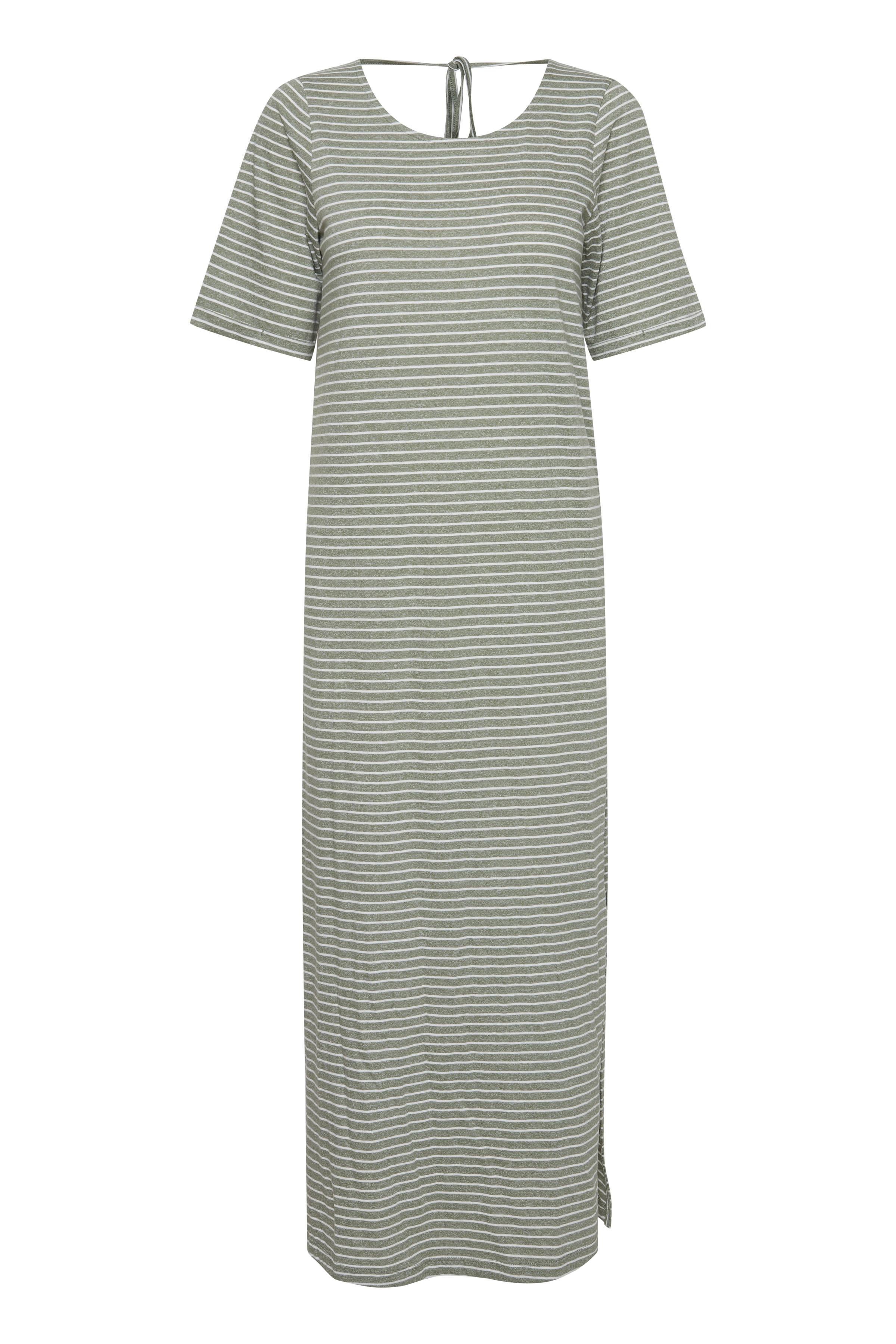 Ichi Dame Jerseykjole - Small Stripe Hedge Green