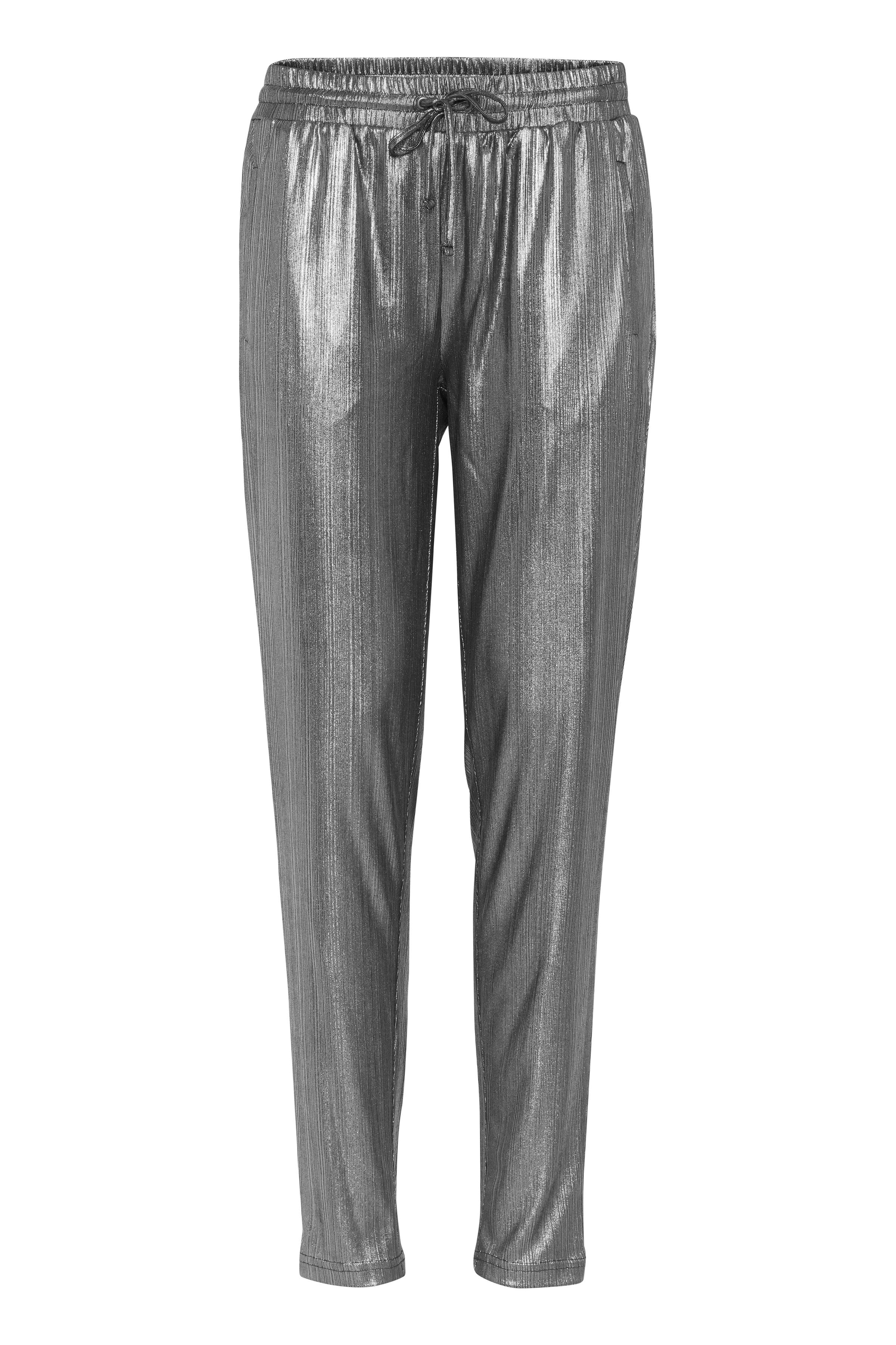 Image of Pulz Jeans Dame Smarte Silver bukser - Sølv