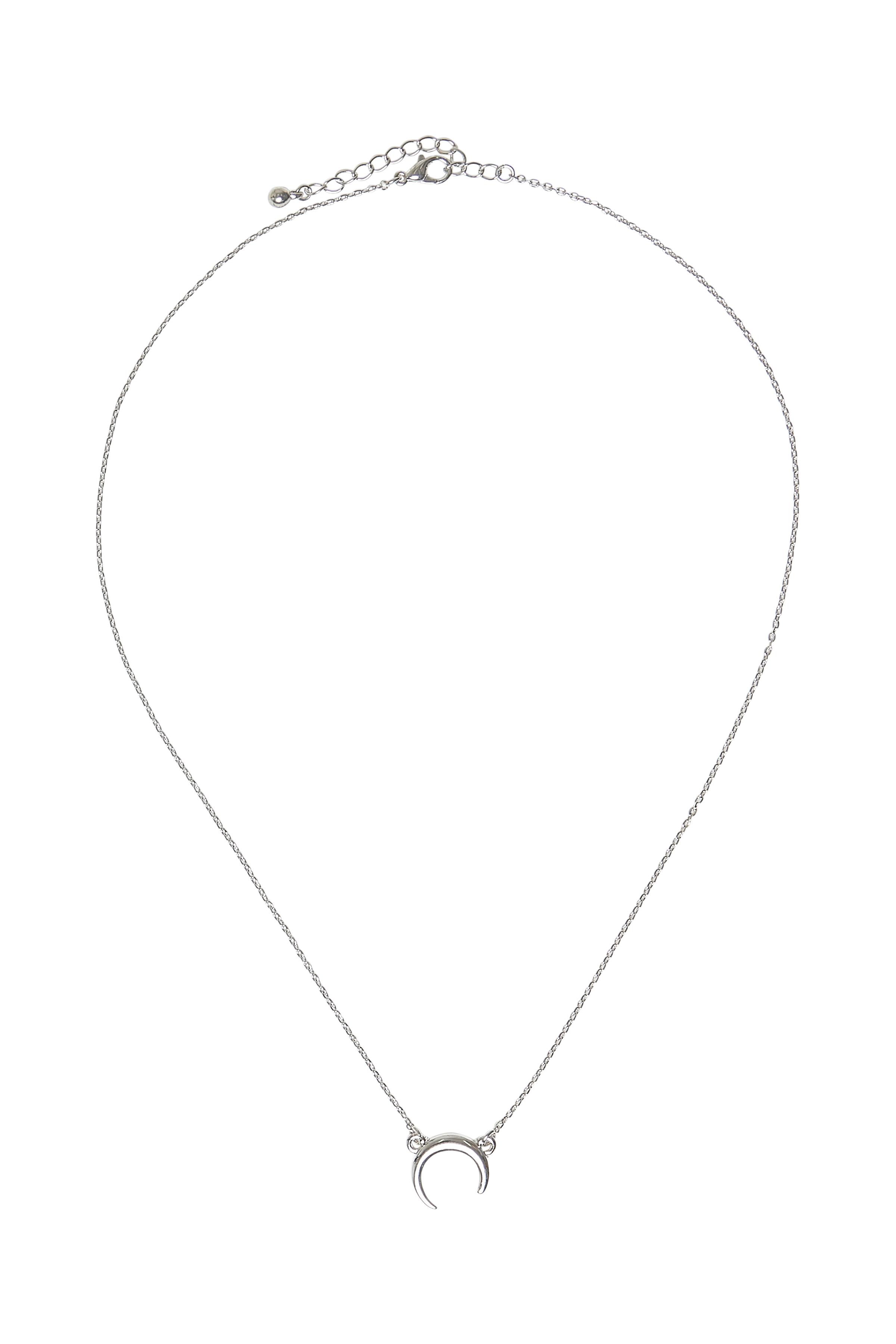 Image of Fransa Dame Fransa halskæde med et vedhæng formet som en halv cirkel. Perfekt til både hverdag og fest. - Sølv