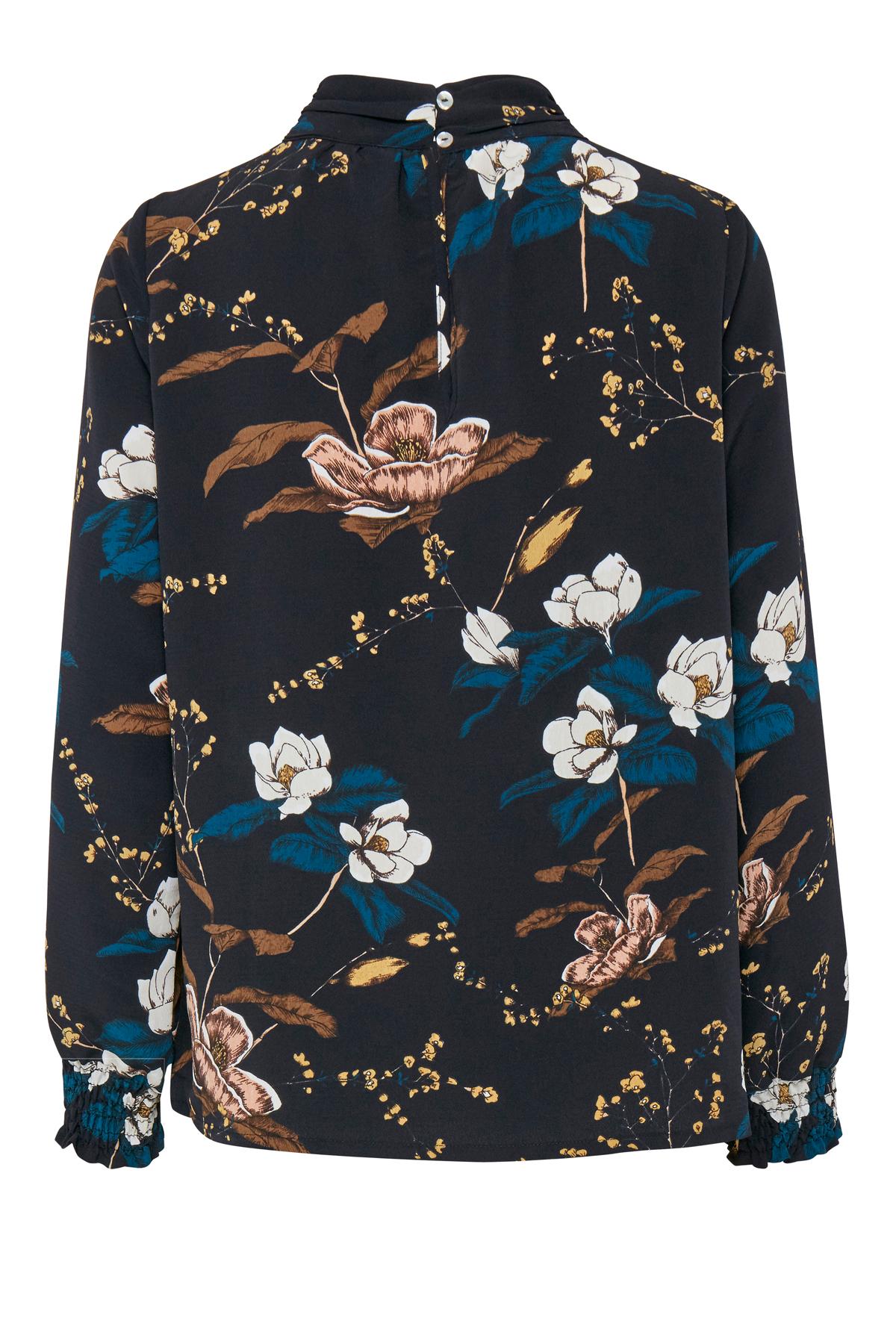 Sort/blå Bluse fra Fransa – Køb Sort/blå Bluse fra str. XS-XXL her