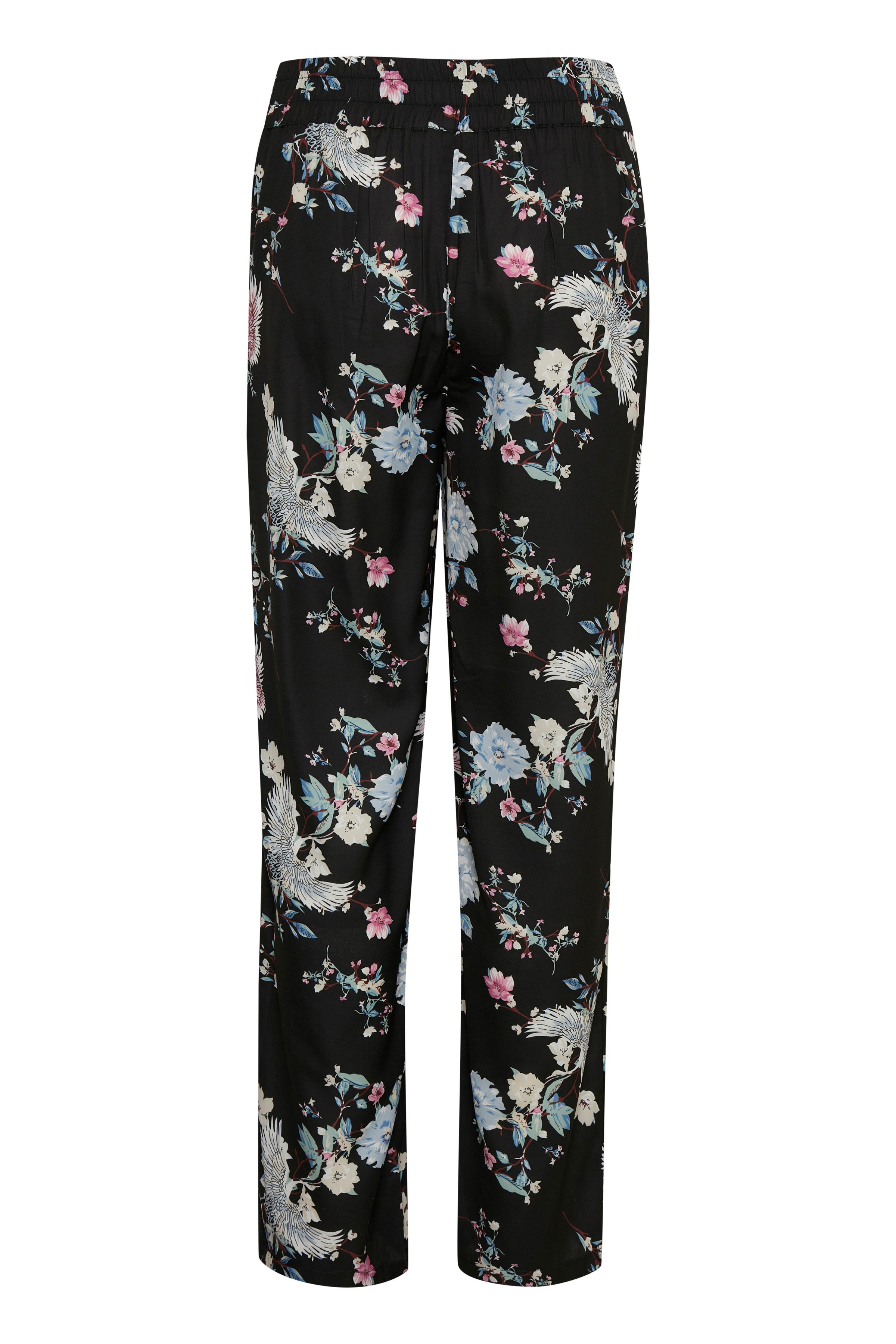 Sort/blå Casual bukser fra Bon'A Parte – Køb Sort/blå Casual bukser fra str. S-2XL her