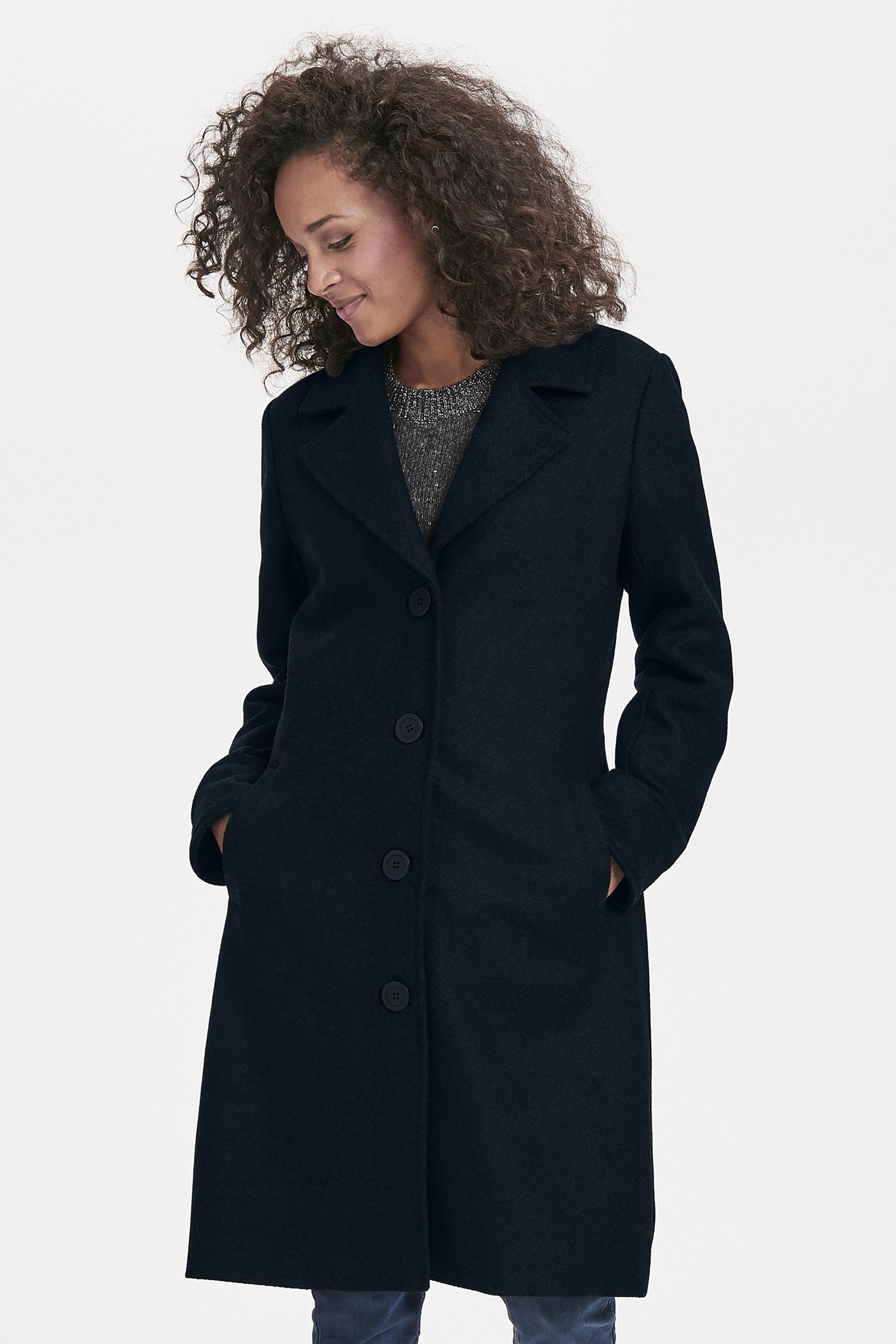 Sort/blå Frakke fra Bon'A Parte – Køb Sort/blå Frakke fra str. 36-48 her