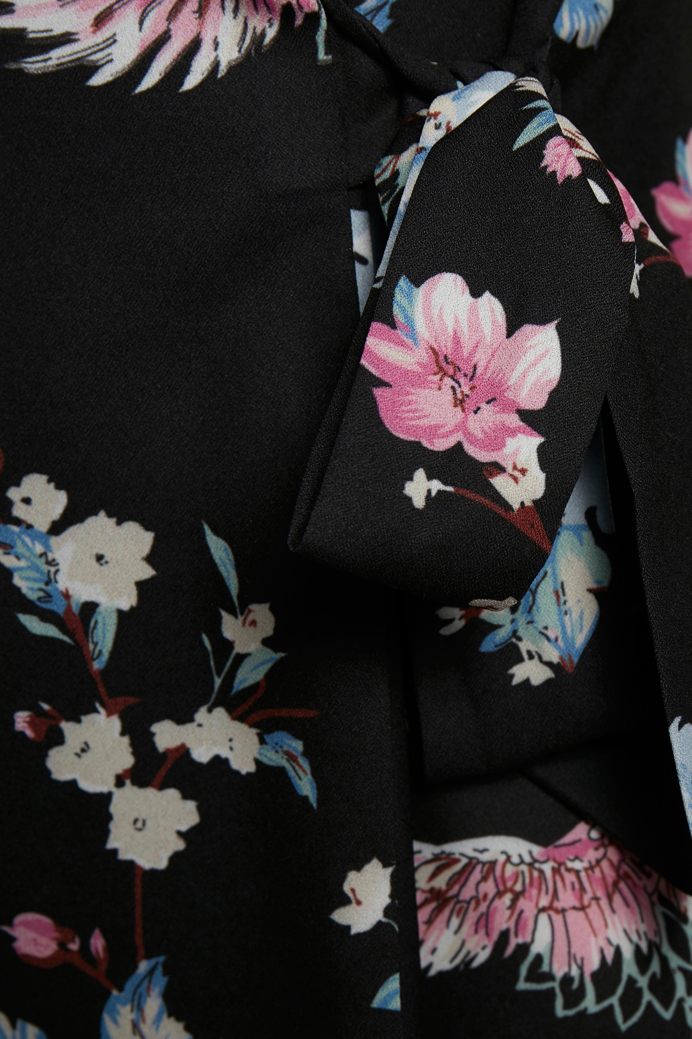Sort/blå Langærmet bluse fra Bon'A Parte – Køb Sort/blå Langærmet bluse fra str. S-2XL her