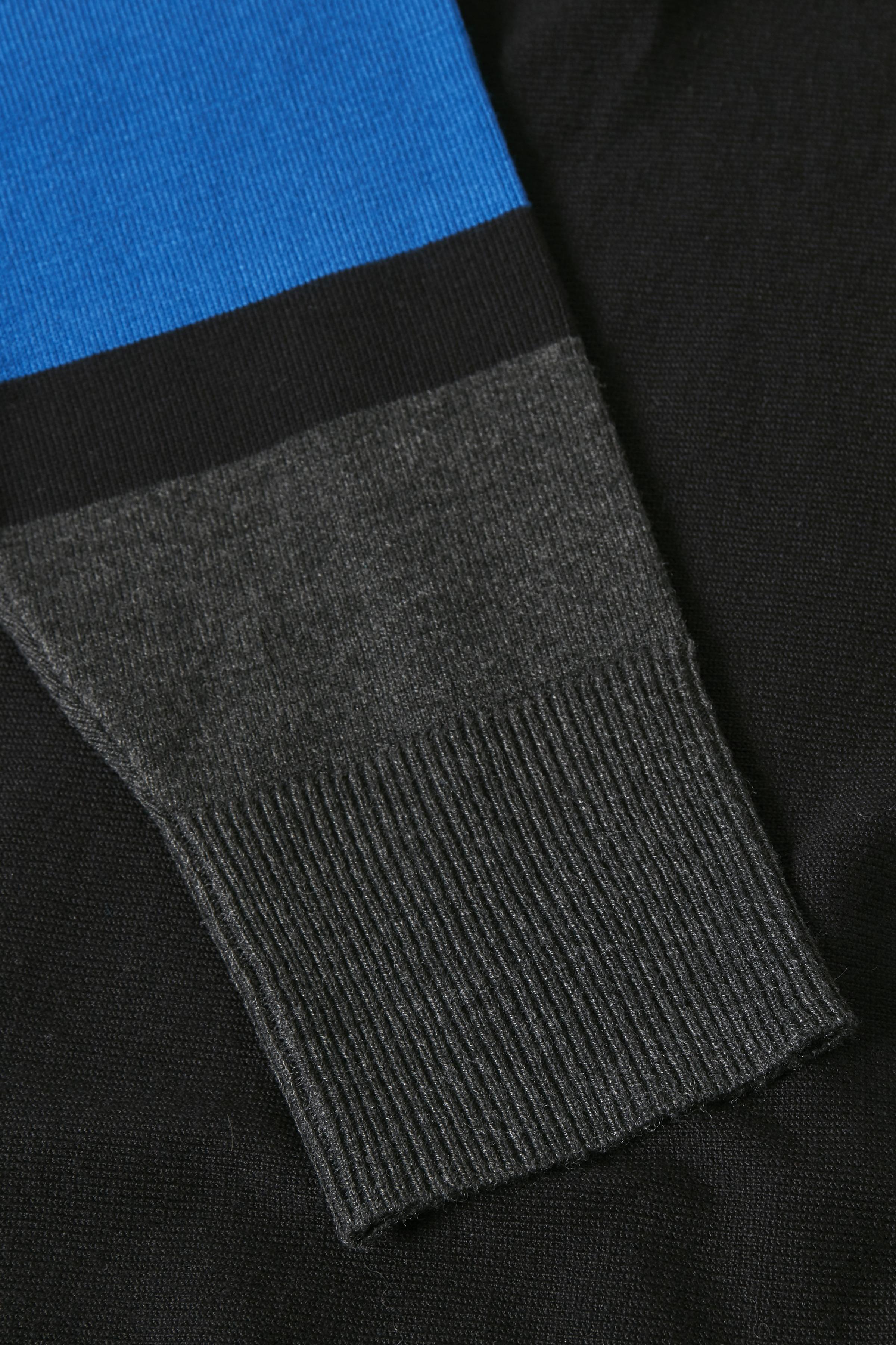 Sort/blå Strikpullover fra Bon'A Parte – Køb Sort/blå Strikpullover fra str. S-2XL her