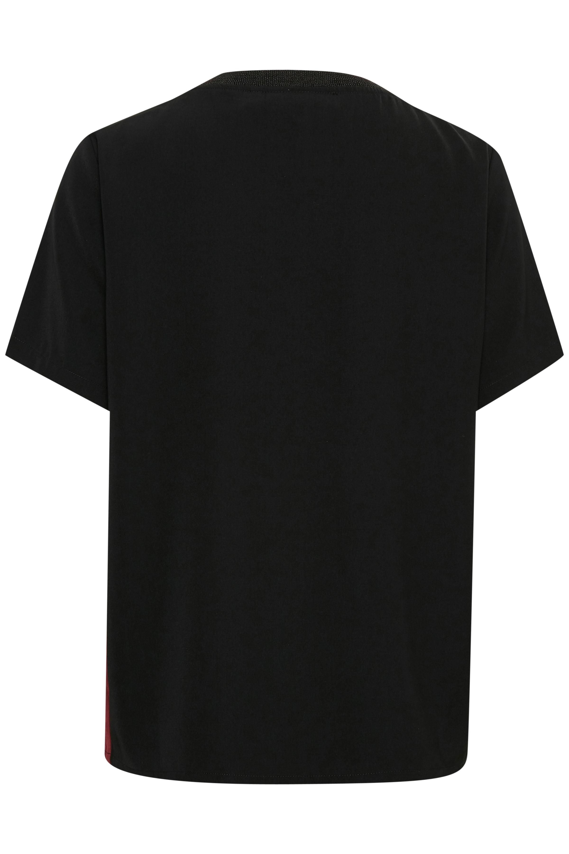 Sort/bordeaux Kortærmet bluse fra b.young – Køb Sort/bordeaux Kortærmet bluse fra str. 34-46 her