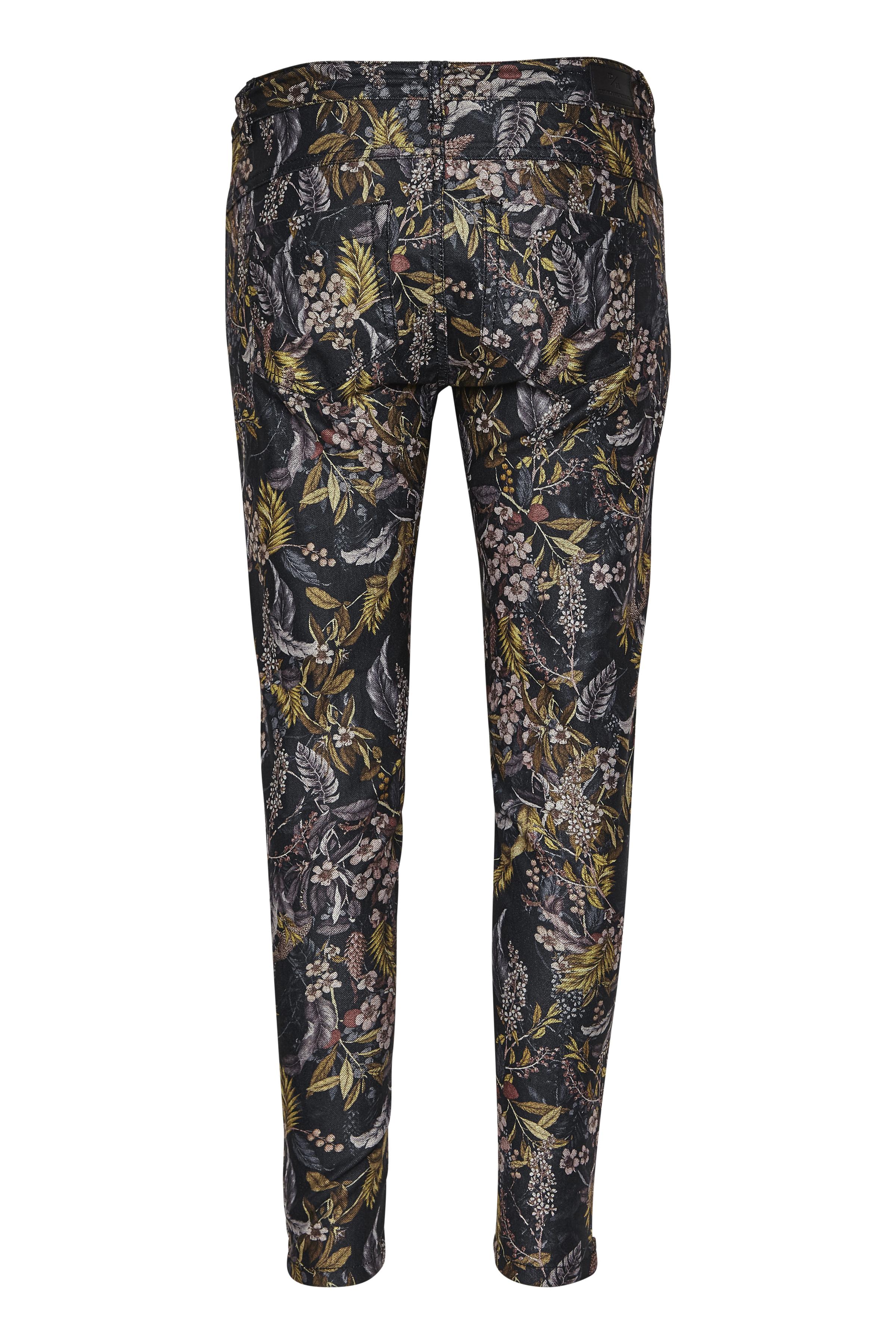 Sort/brændt gul Jeans fra Denim Hunter – Køb Sort/brændt gul Jeans fra str. 25-35 her