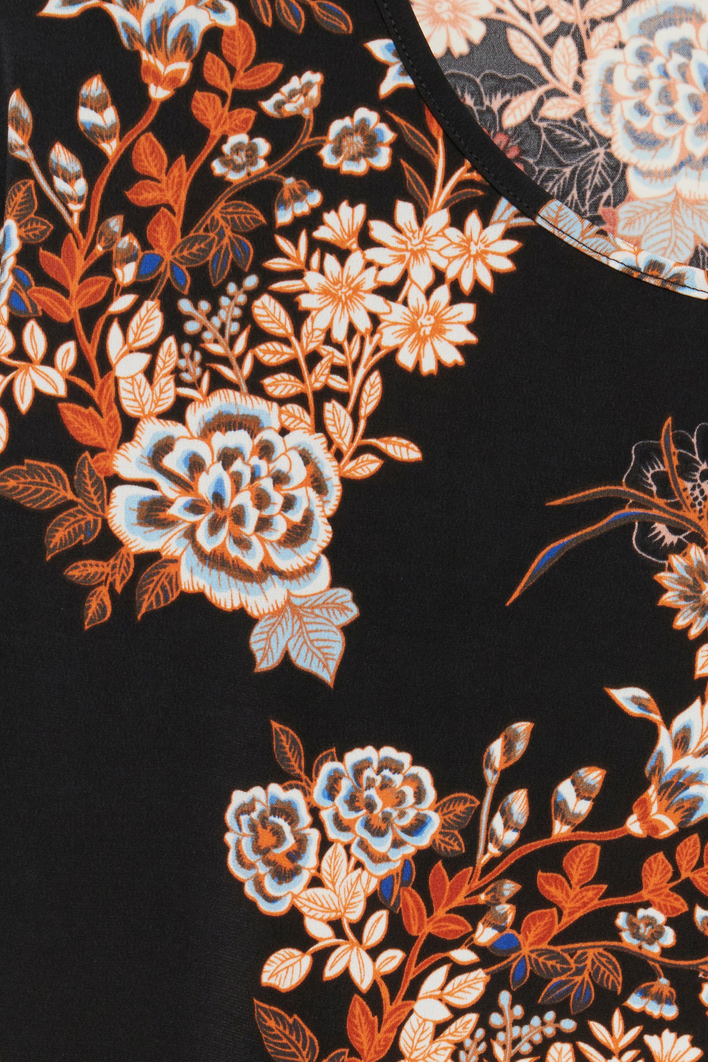 Sort/brændt orange Kortærmet bluse fra Fransa – Køb Sort/brændt orange Kortærmet bluse fra str. XS-XXL her