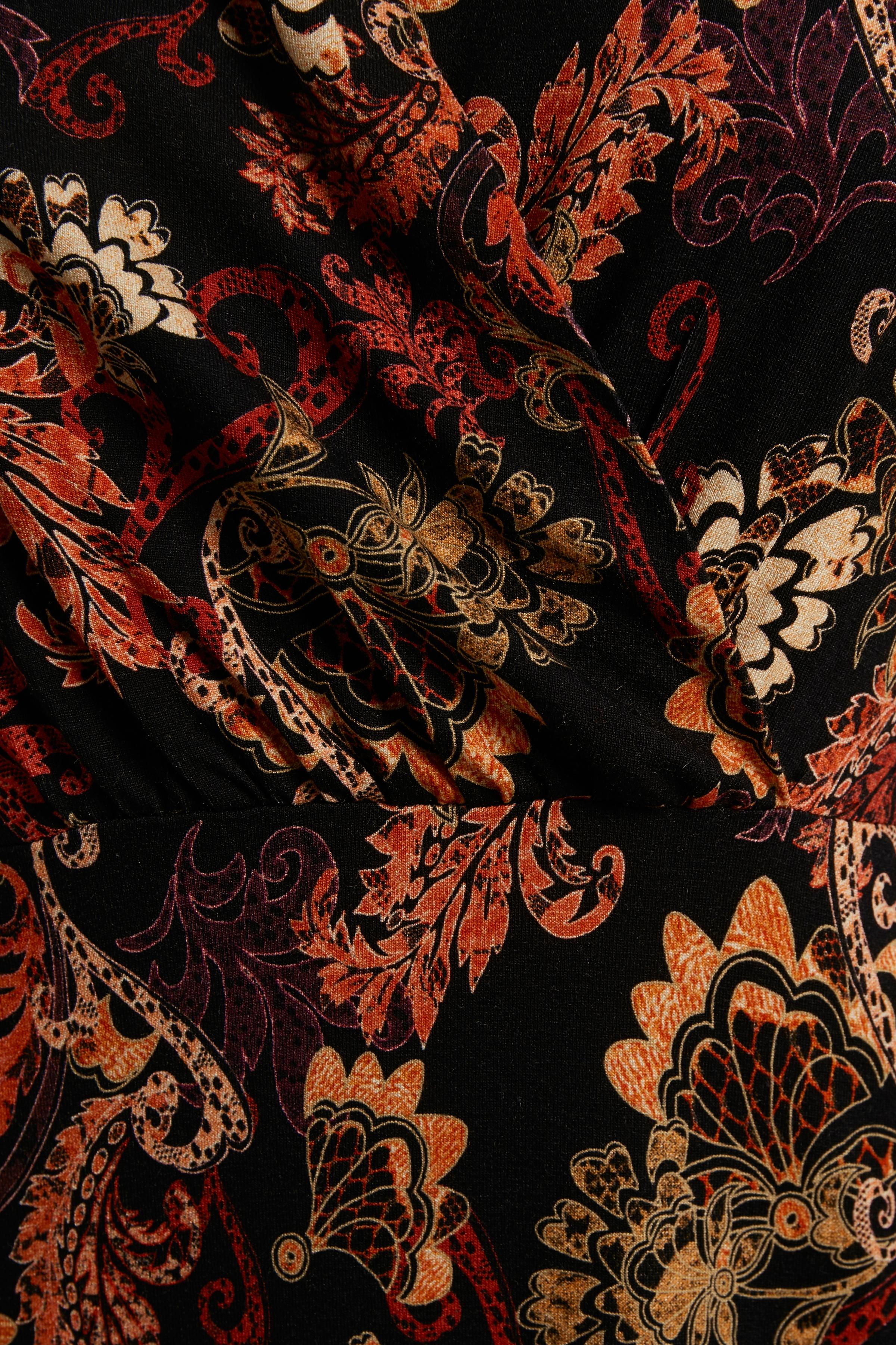 Sort/brændt orange Strikkjole fra Cream – Køb Sort/brændt orange Strikkjole fra str. XS-XXL her
