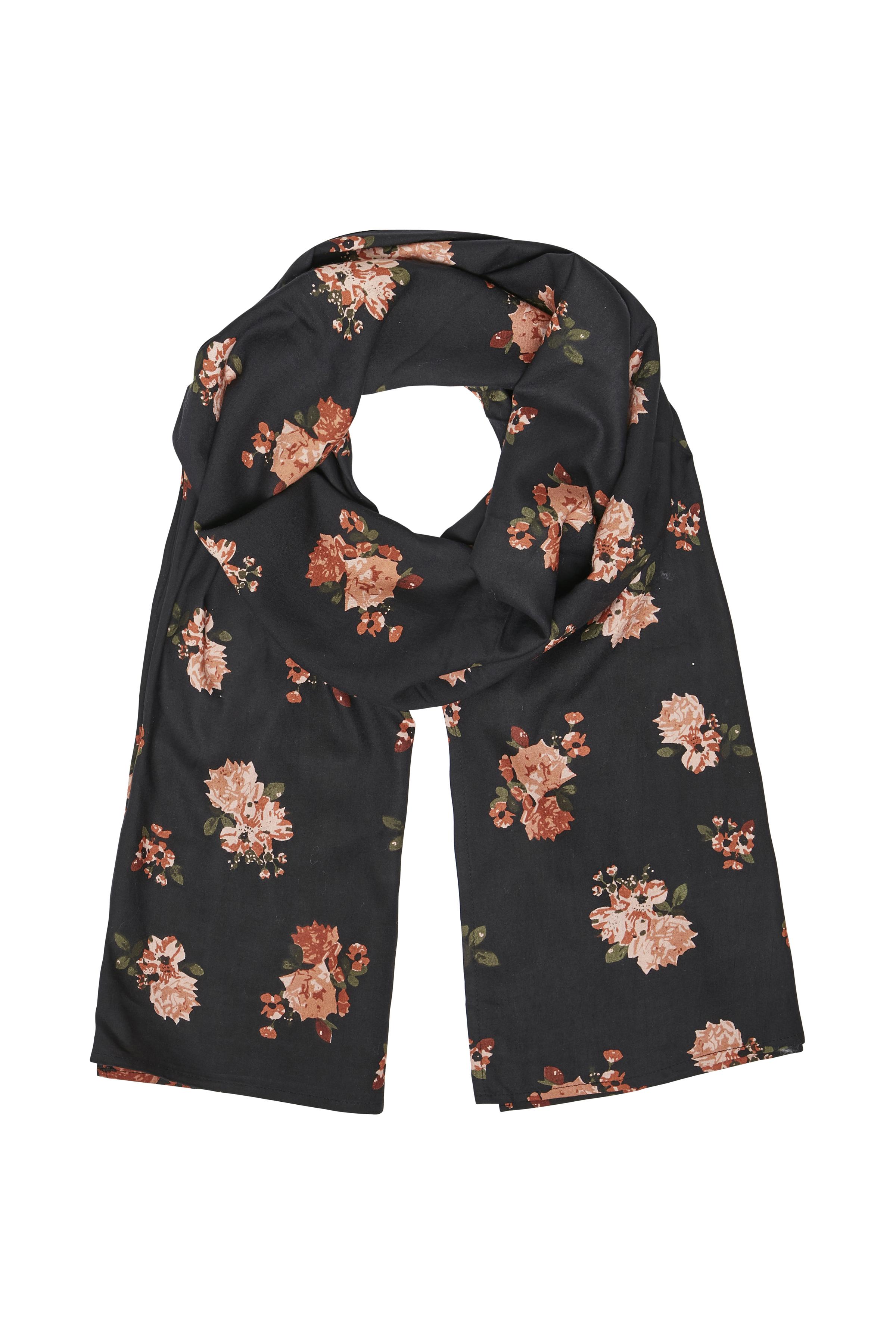 Sort/brun Tørklæde fra Bon'A Parte – Køb Sort/brun Tørklæde fra str. ONE her