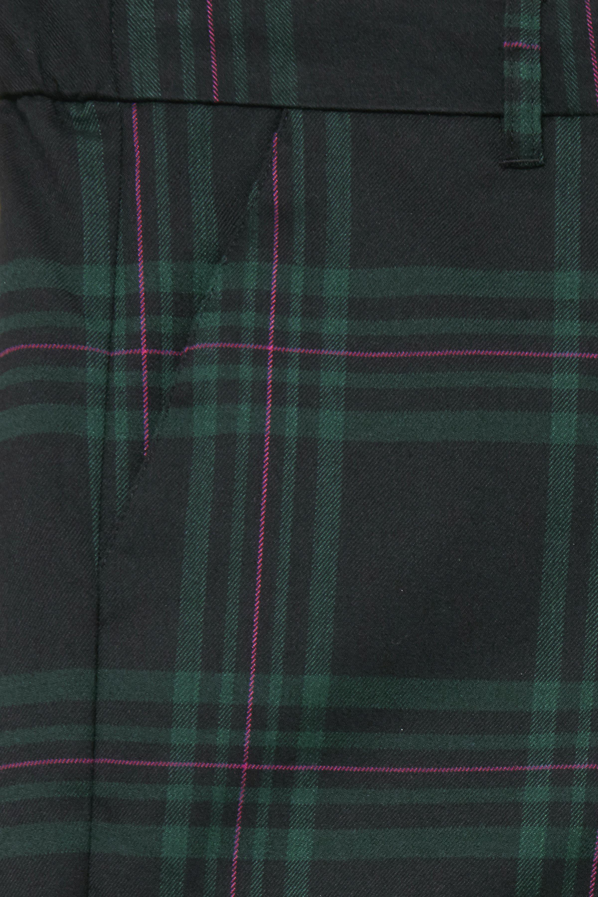 Sort/flaskegrøn Bukser fra b.young – Køb Sort/flaskegrøn Bukser fra str. 34-46 her