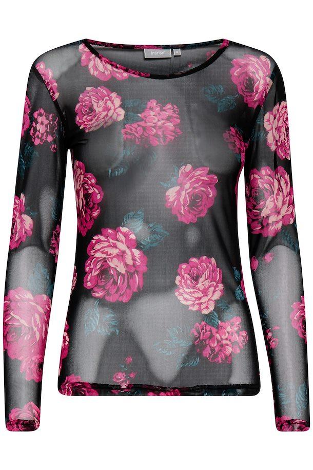0b779e801cc7 Sort fuchsia Langærmet bluse fra Fransa – Køb Sort fuchsia Langærmet bluse  fra str. XS-XXL her