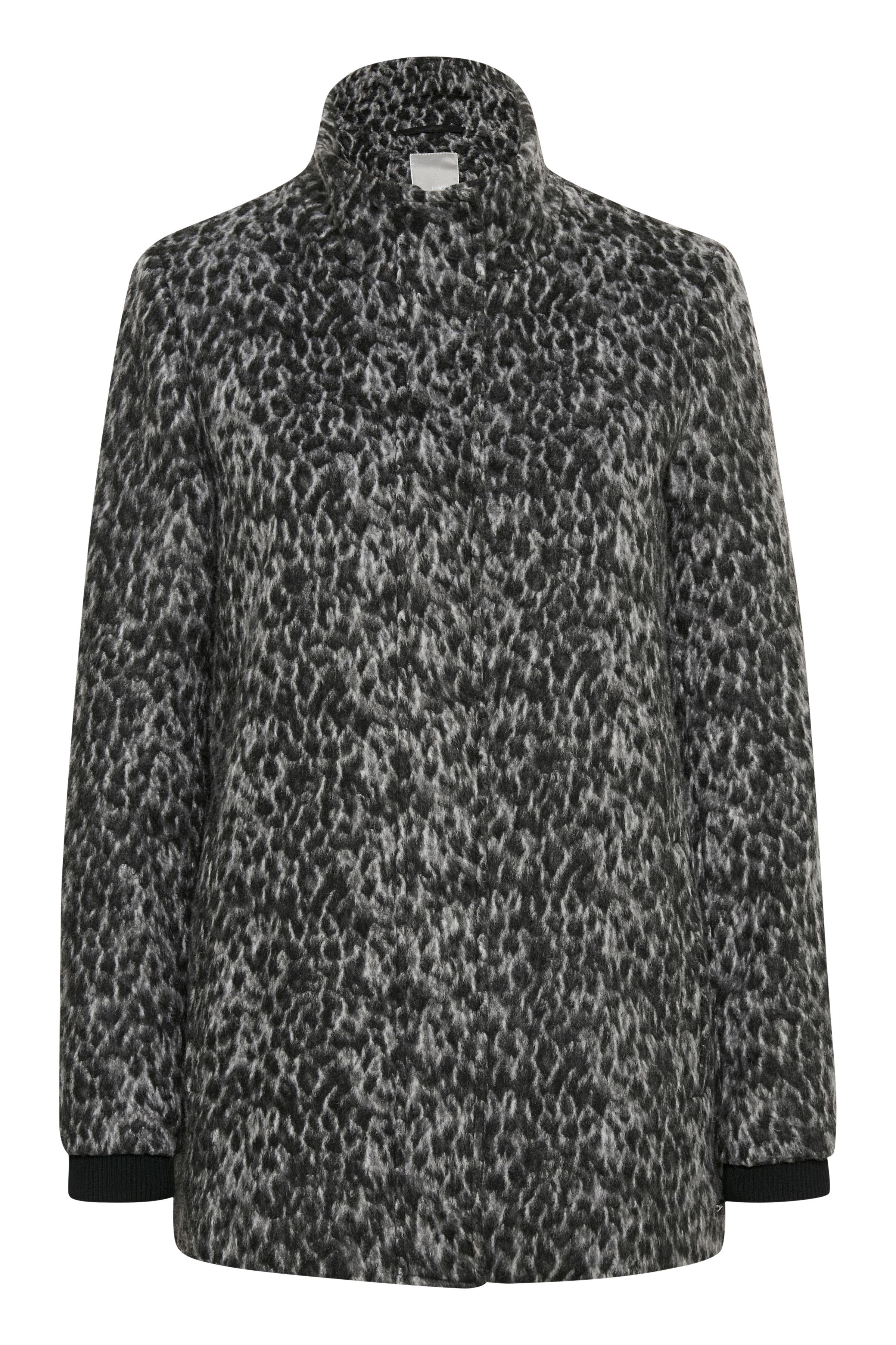 Sort/grå Frakke fra Fransa – Køb Sort/grå Frakke fra str. XS-XXL her