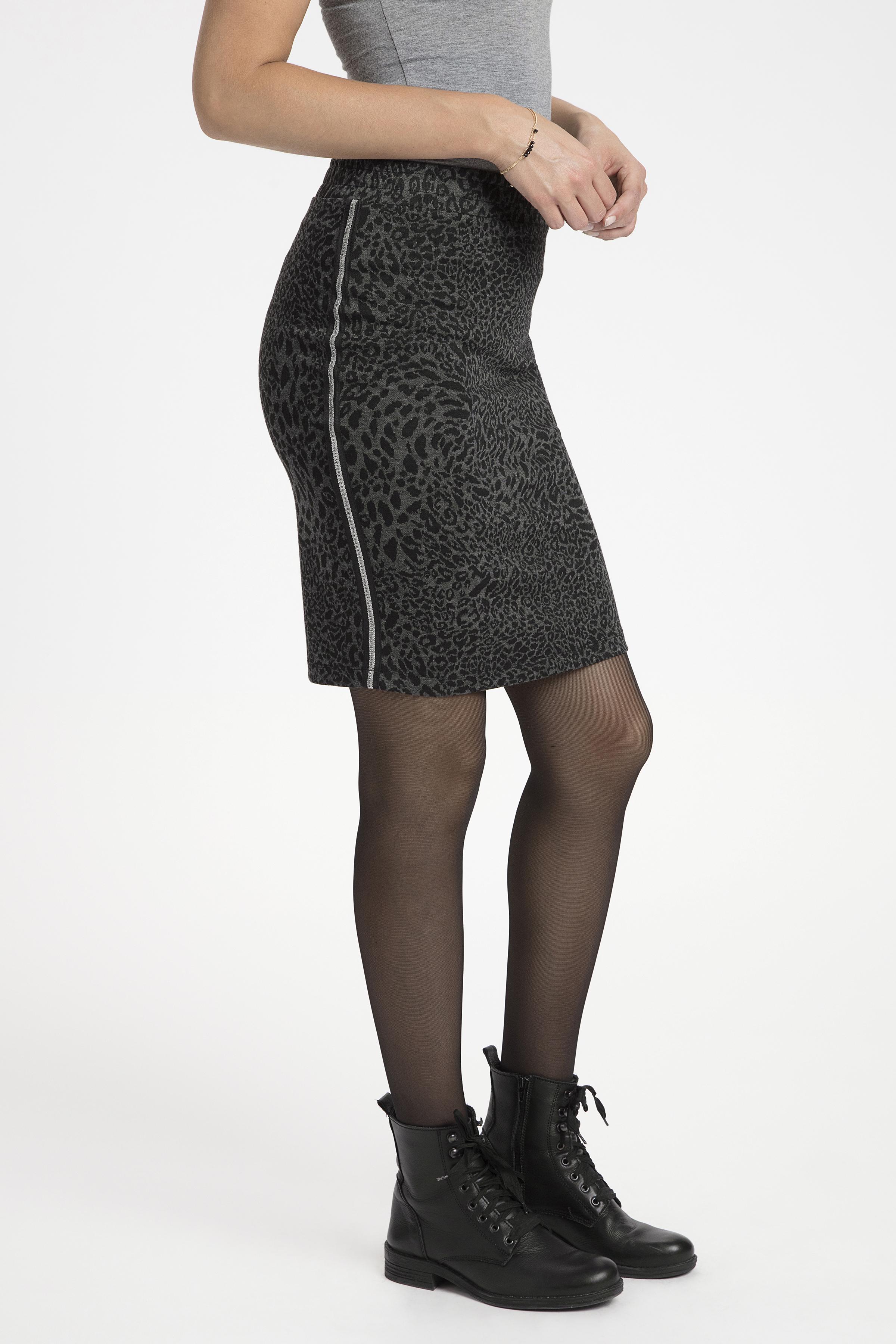 Sort/grå Nederdel fra Bon'A Parte – Køb Sort/grå Nederdel fra str. S-2XL her