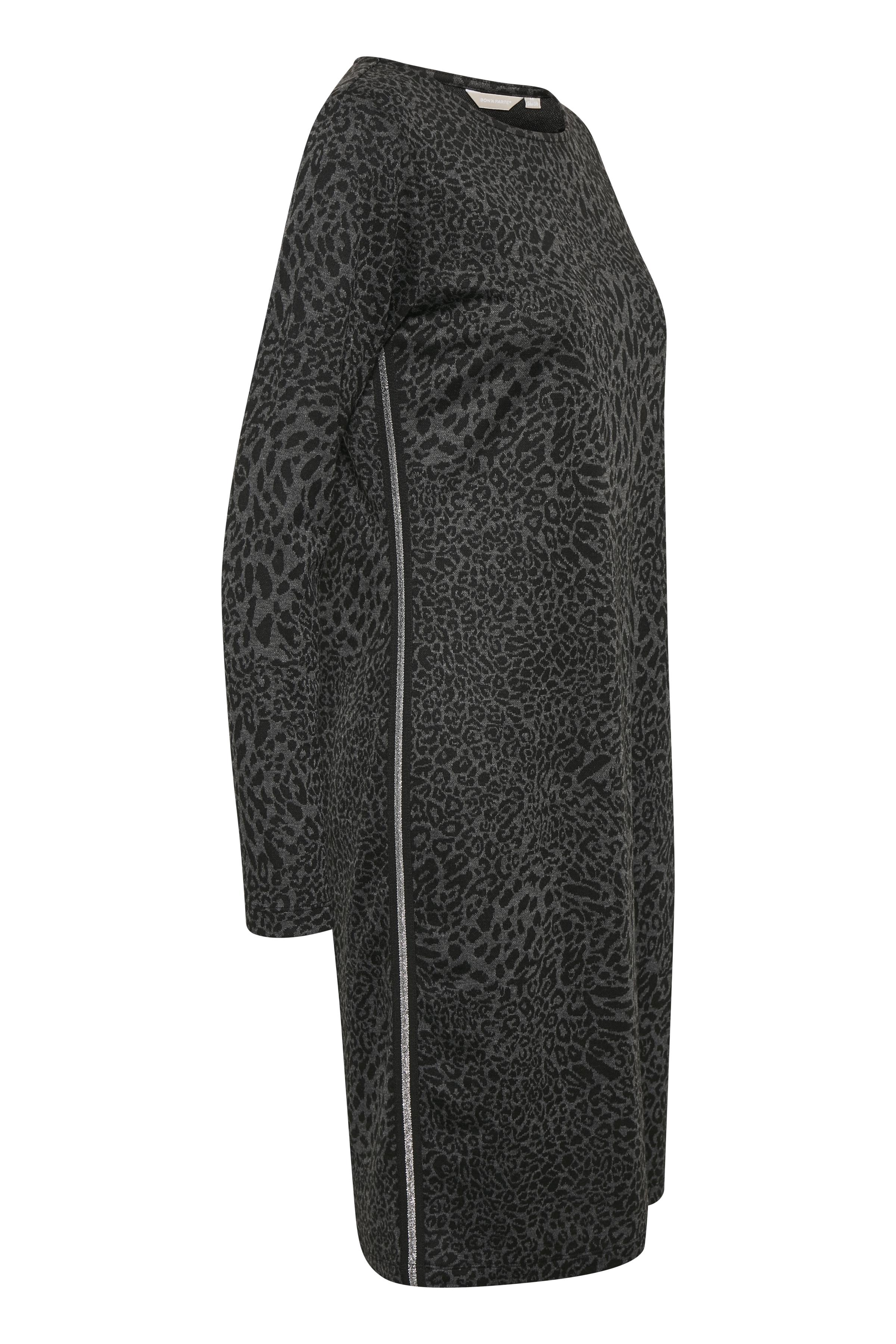 Sort/grå Strikkjole fra Bon'A Parte – Køb Sort/grå Strikkjole fra str. S-2XL her