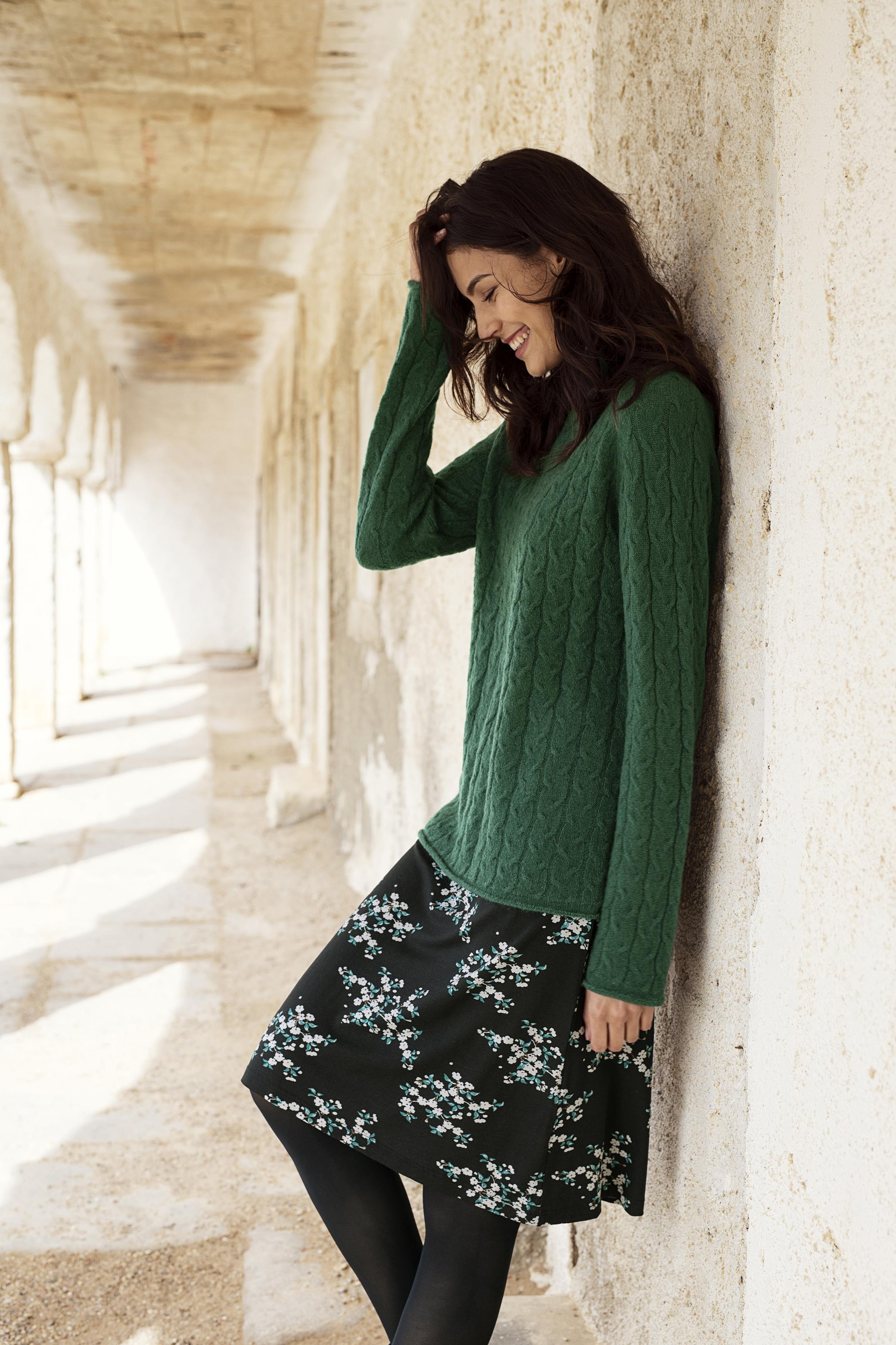 Sort/grøn Nederdel fra Bon'A Parte – Køb Sort/grøn Nederdel fra str. S-2XL her