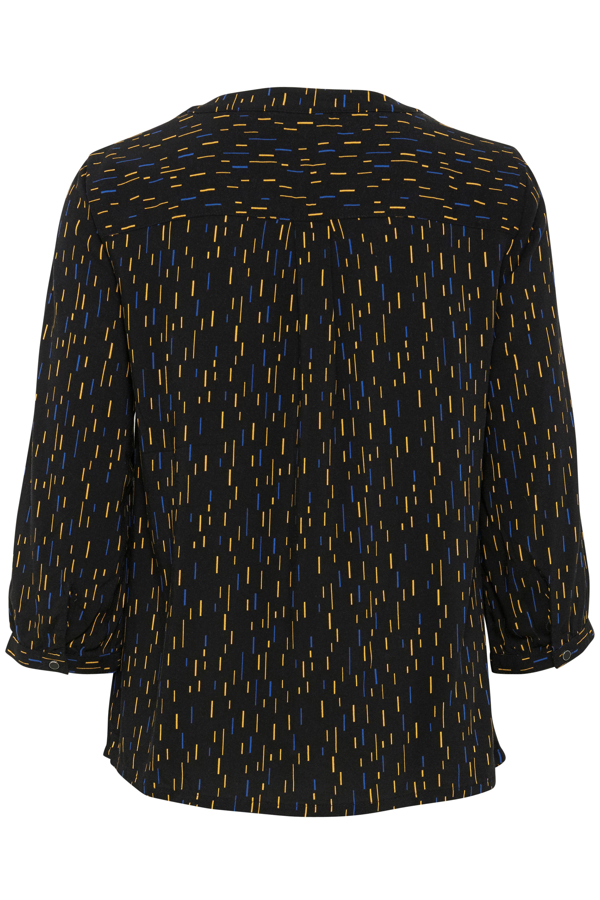 Sort/gul Kortærmet bluse fra Fransa – Køb Sort/gul Kortærmet bluse fra str. XS-XXL her