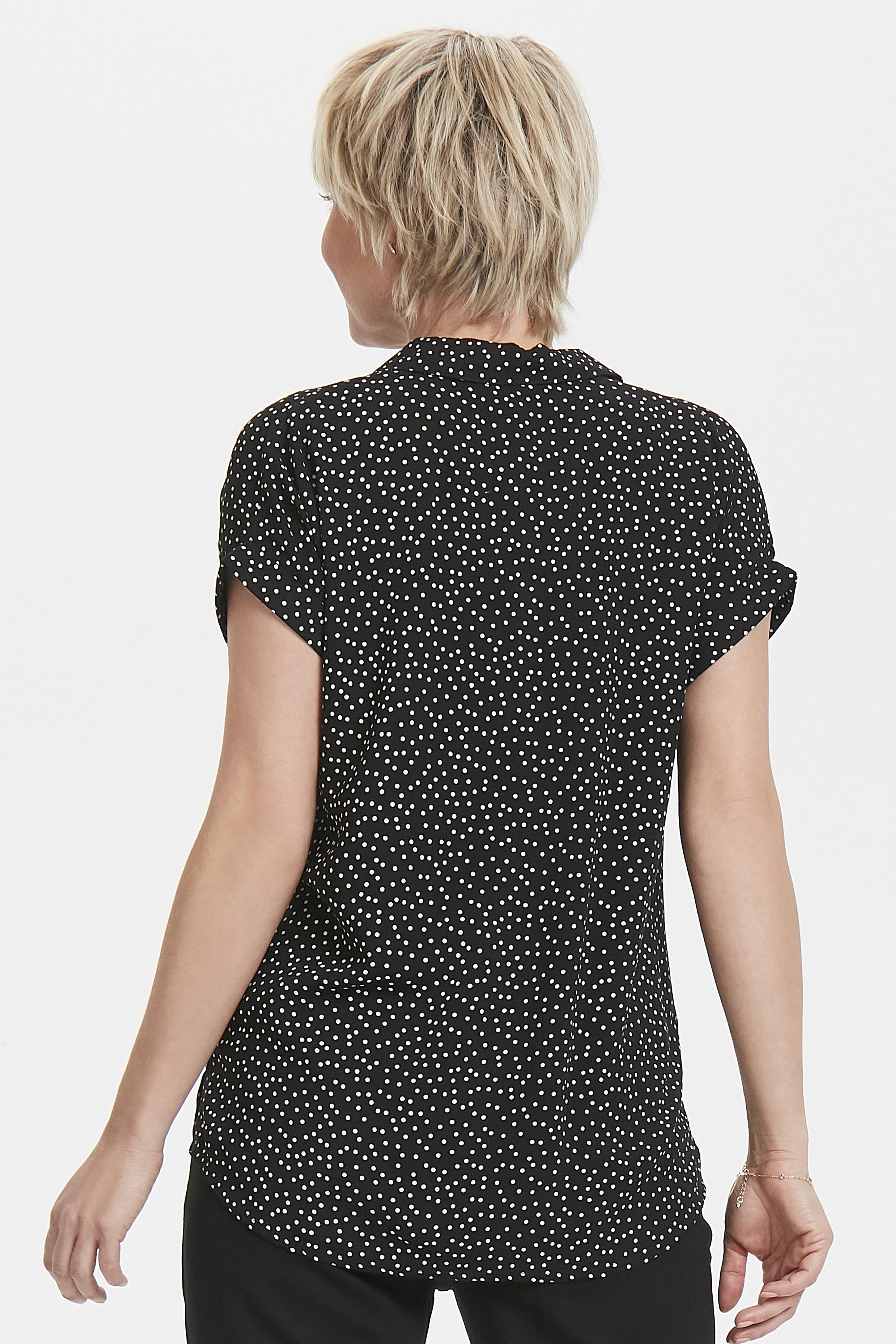Sort/hvid Kortærmet skjorte fra Bon'A Parte – Køb Sort/hvid Kortærmet skjorte fra str. S-2XL her