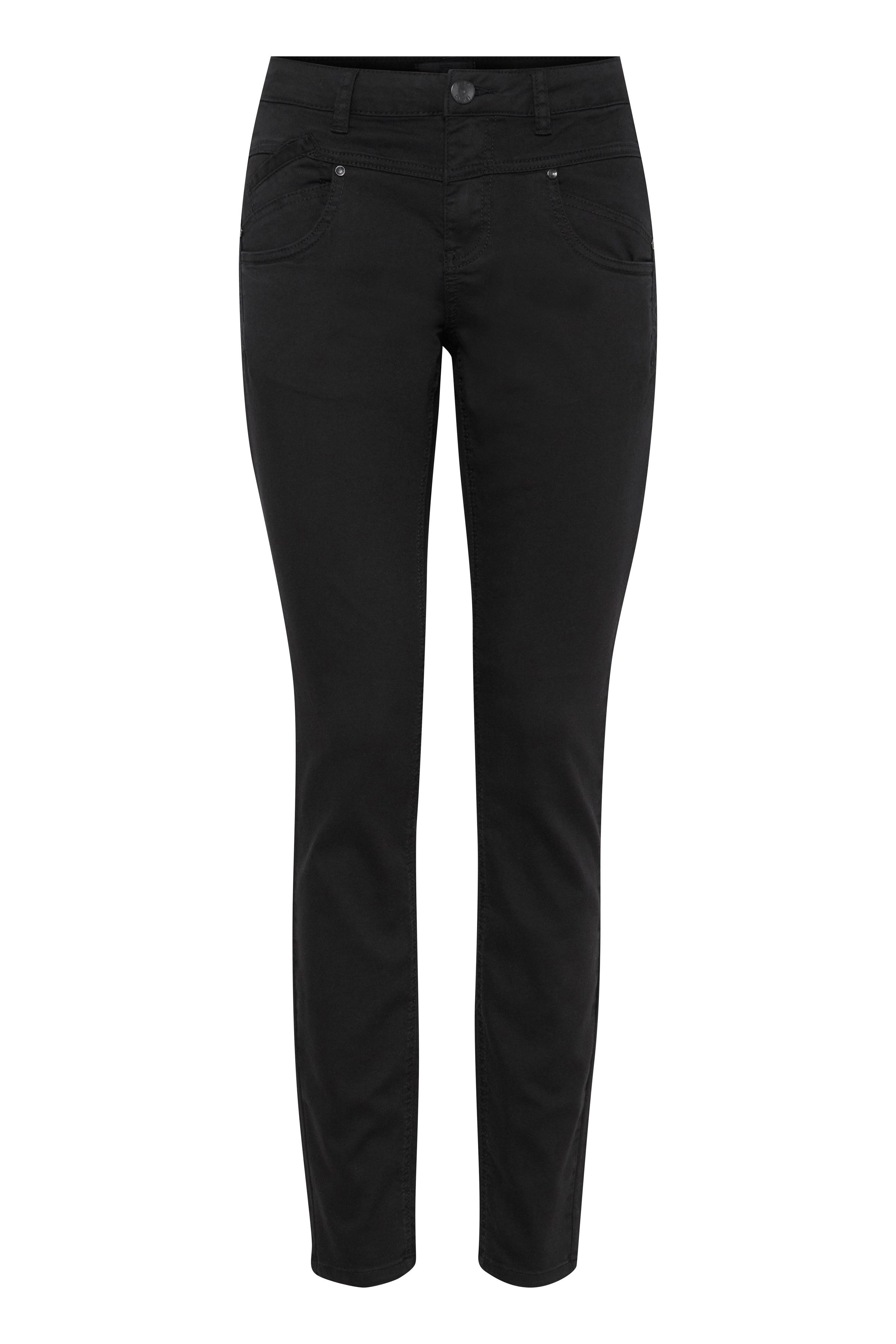 Image of Pulz Jeans Dame 5-lommet jeans - Sort