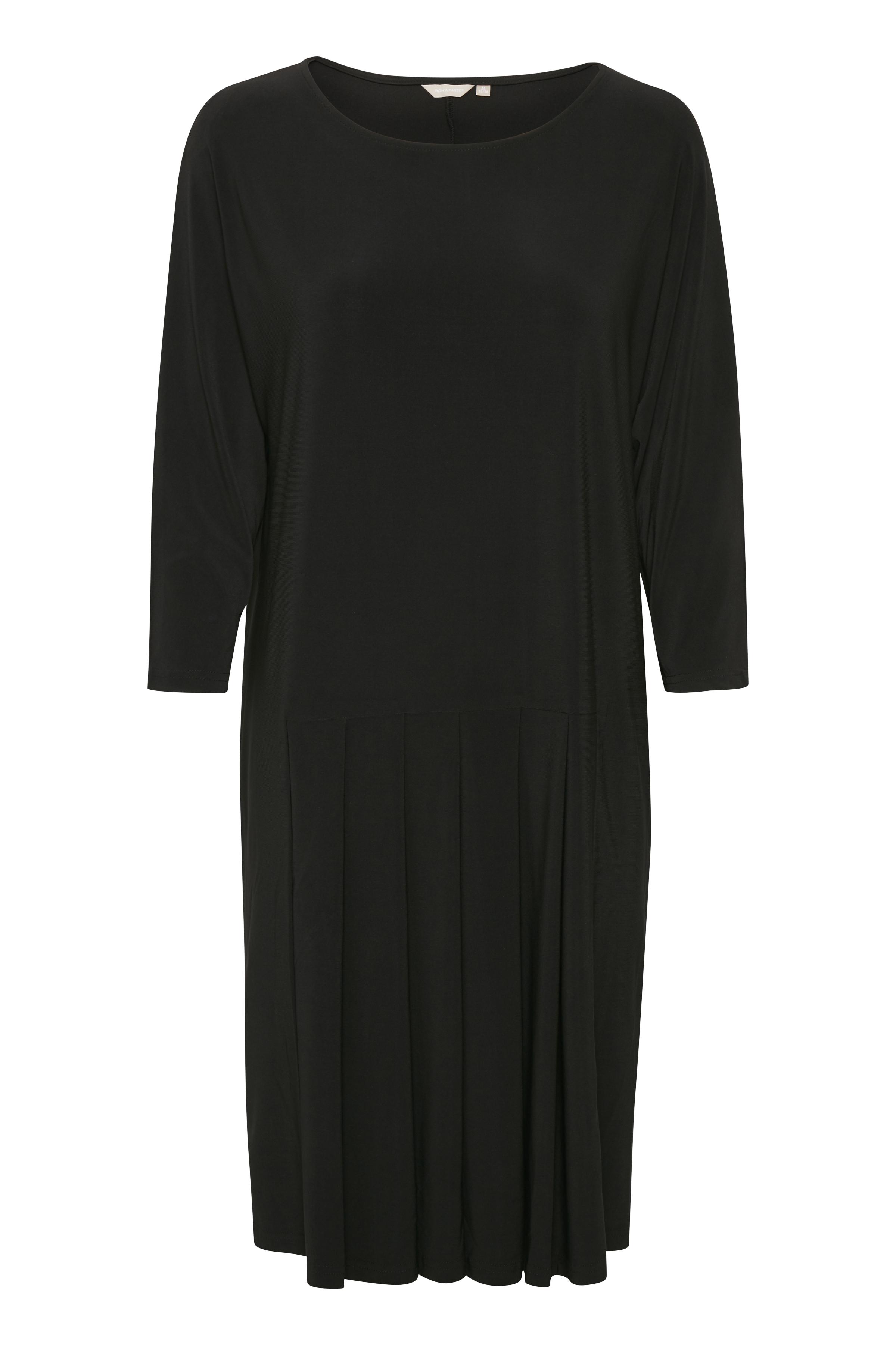 BonA Parte Dame Junny kjole med rund hals og ærmer med albuelængde. Kjolen - Sort