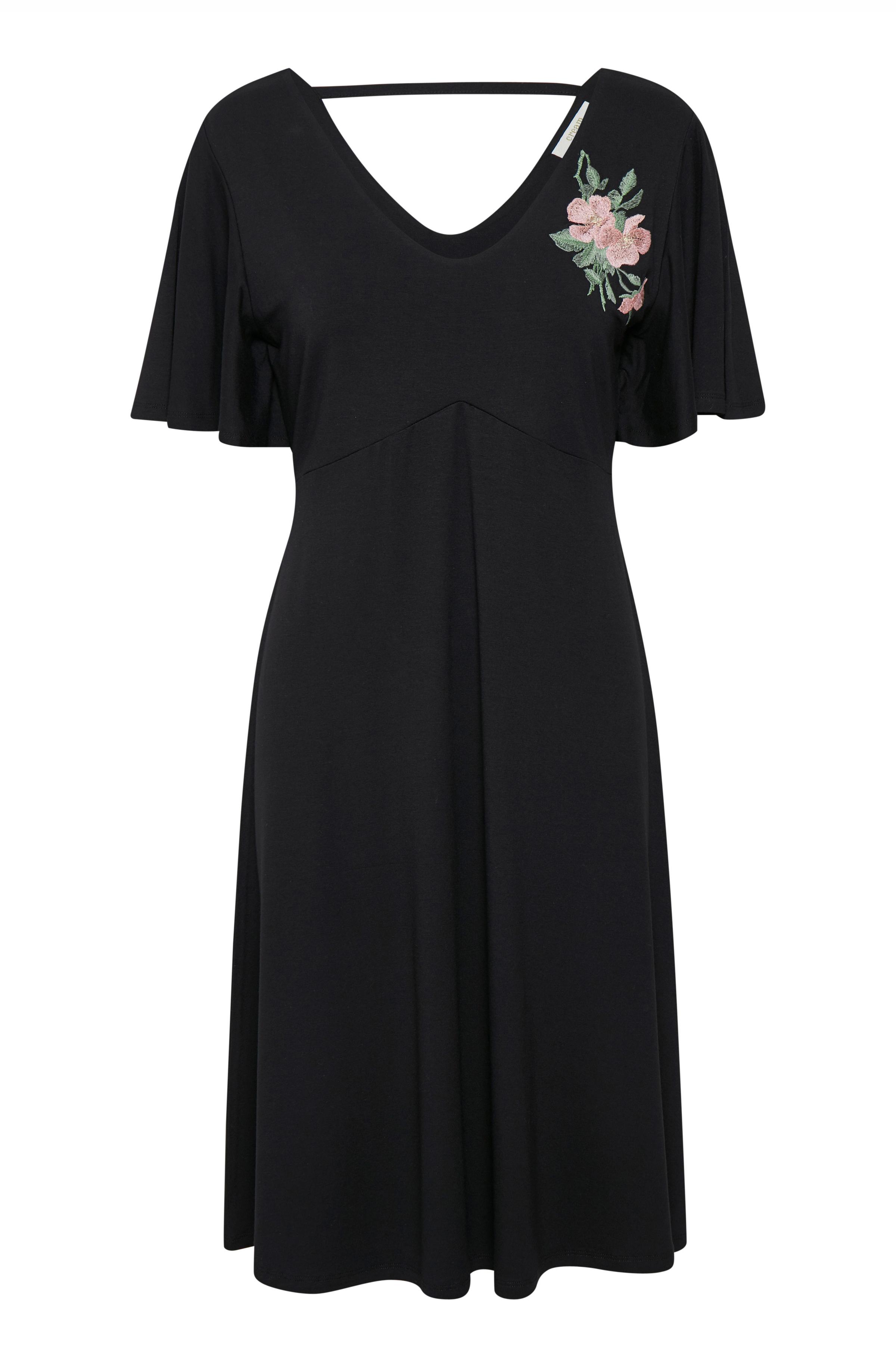 Cream Dame Flot og fin kjole - Sort