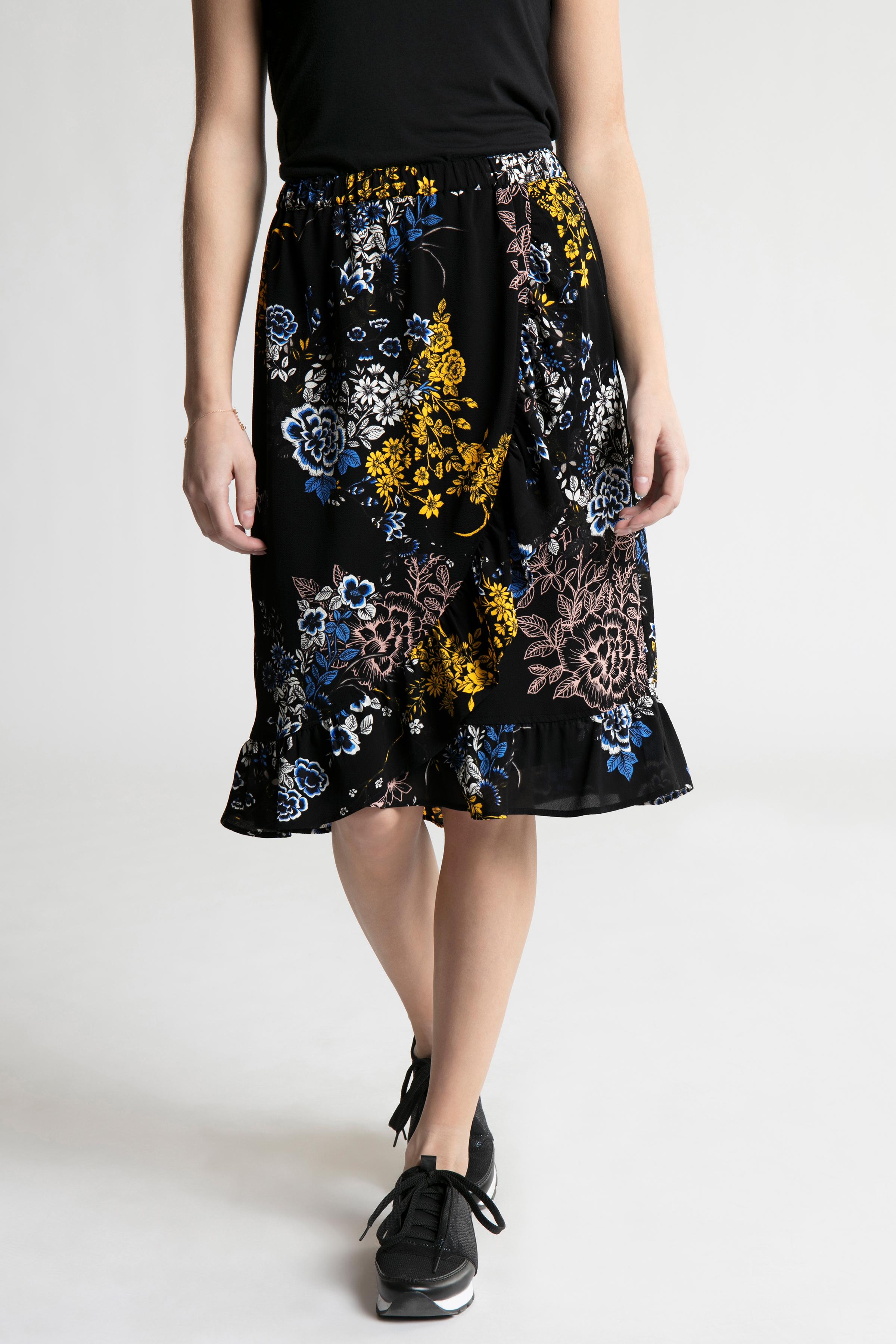 Sort/koboltblå Nederdel fra Fransa – Køb Sort/koboltblå Nederdel fra str. XS-XXL her