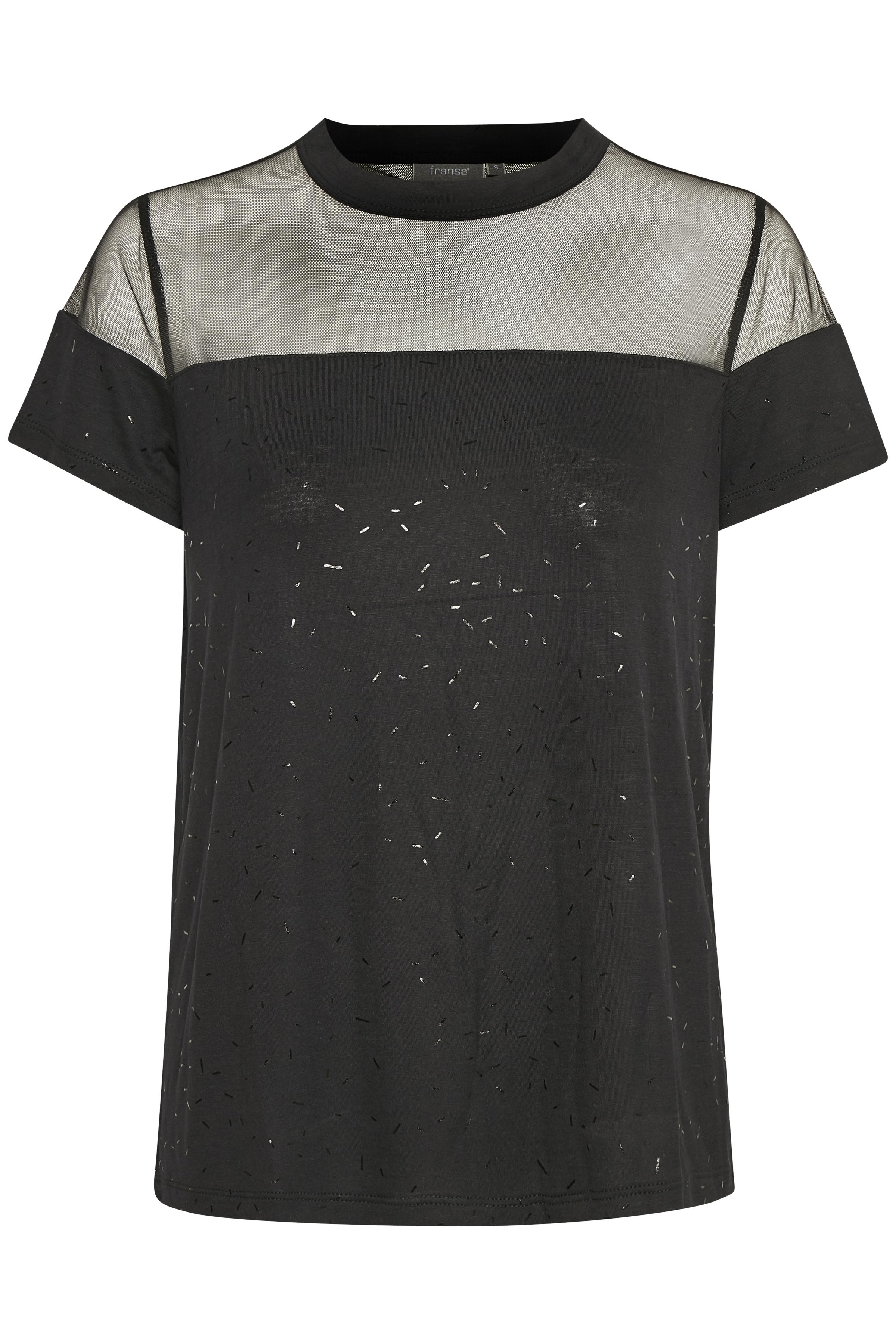 Sort Kortærmet bluse fra Fransa – Køb Sort Kortærmet bluse fra str. XS-XXL her