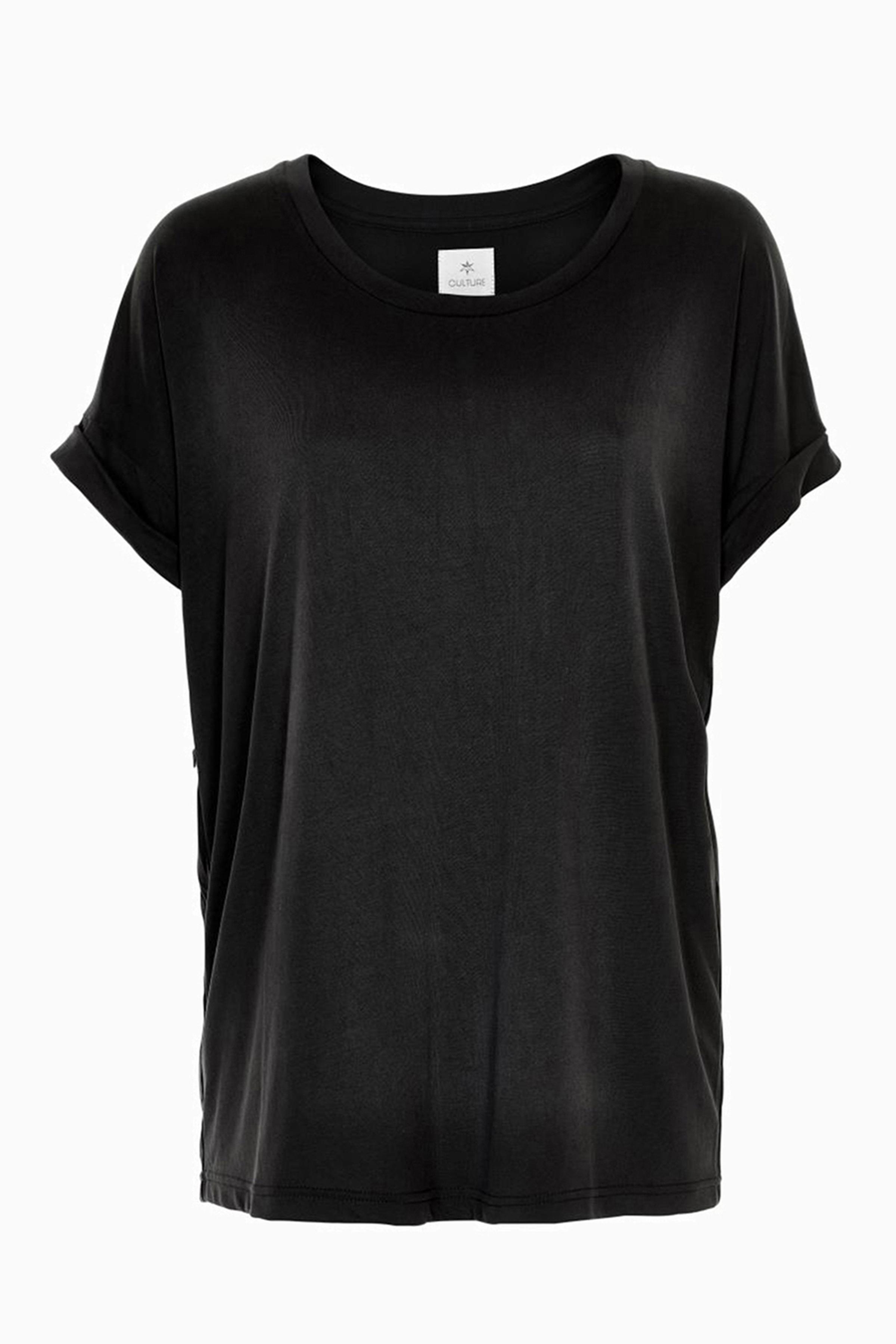 Sort Kortærmet T-shirt fra Culture – Køb Sort Kortærmet T-shirt fra str. XS-XXL her