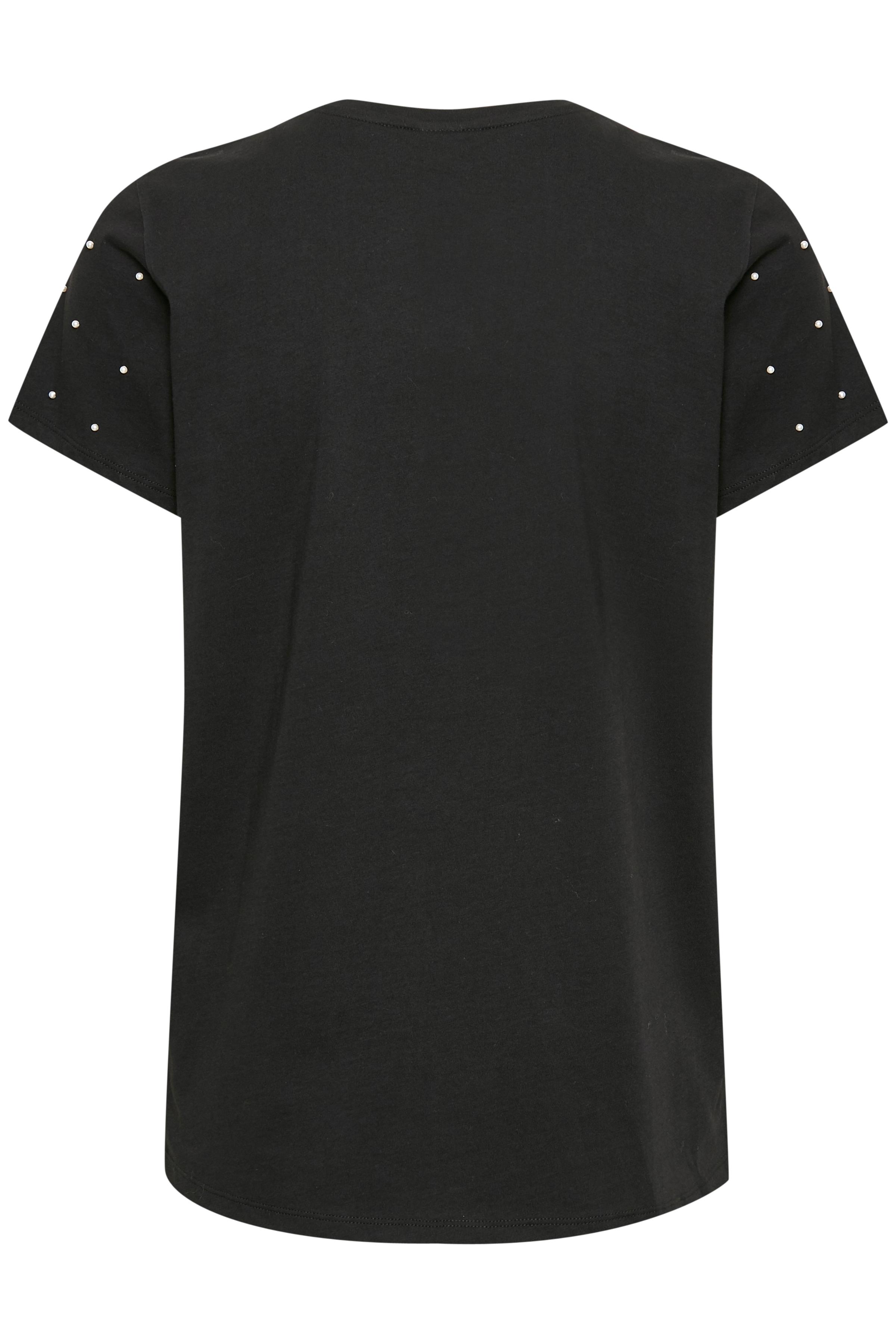 Sort Kortærmet T-shirt fra Fransa – Køb Sort Kortærmet T-shirt fra str. XS-XXL her