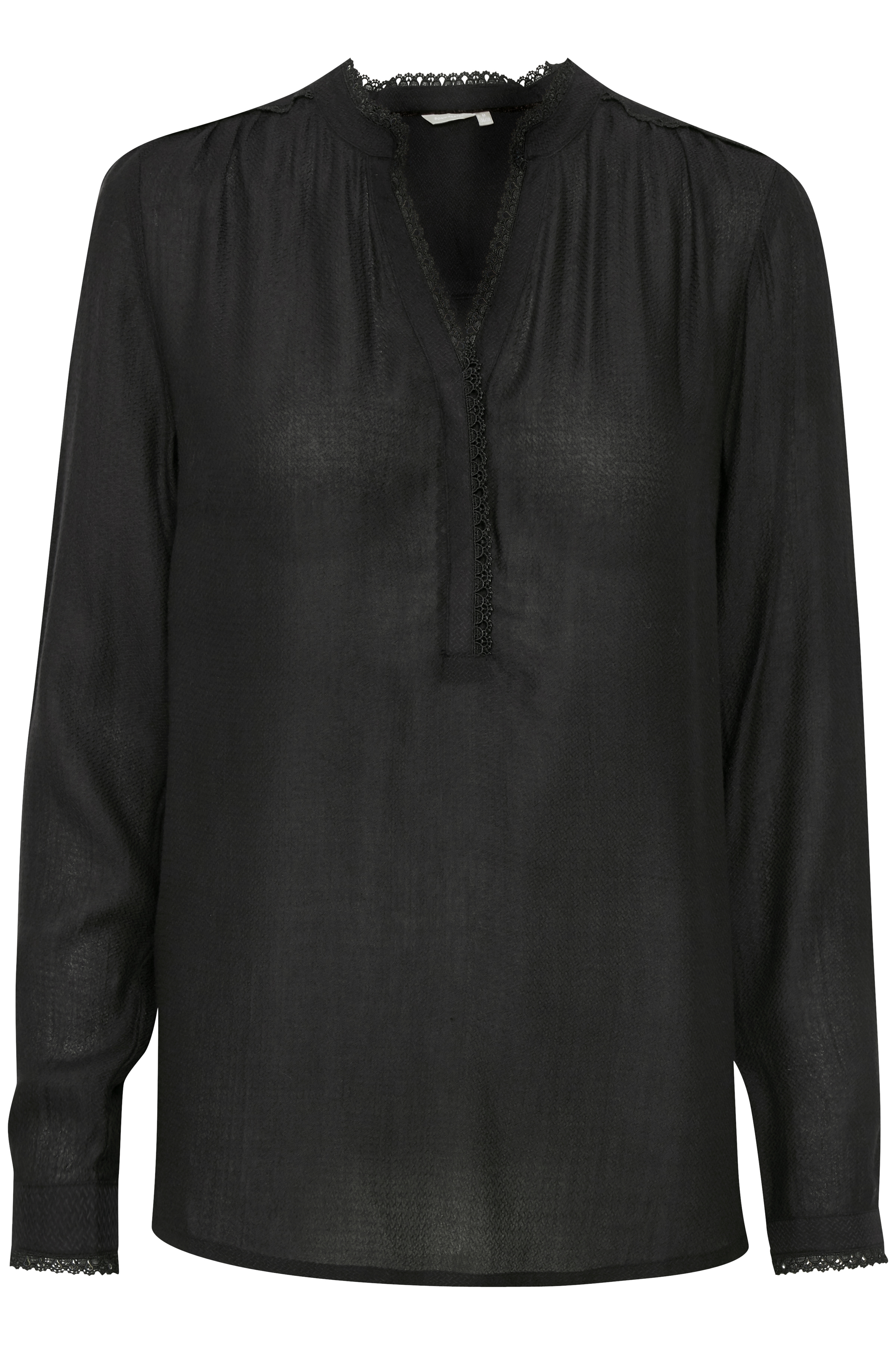 Sort Langærmet bluse fra Bon'A Parte – Køb Sort Langærmet bluse fra str. S-2XL her