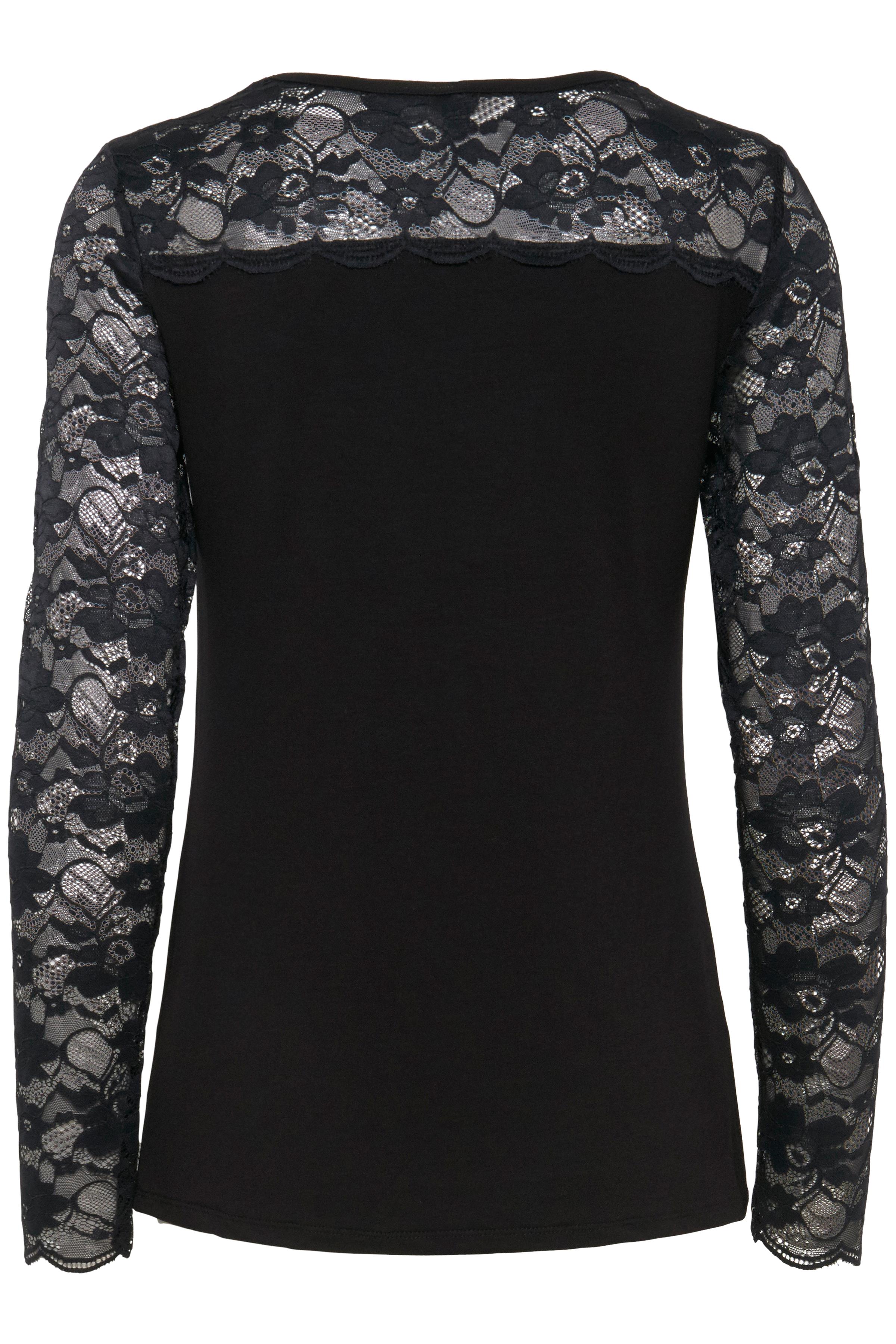 Sort Langærmet bluse fra Pulz Jeans – Køb Sort Langærmet bluse fra str. XS-XXL her