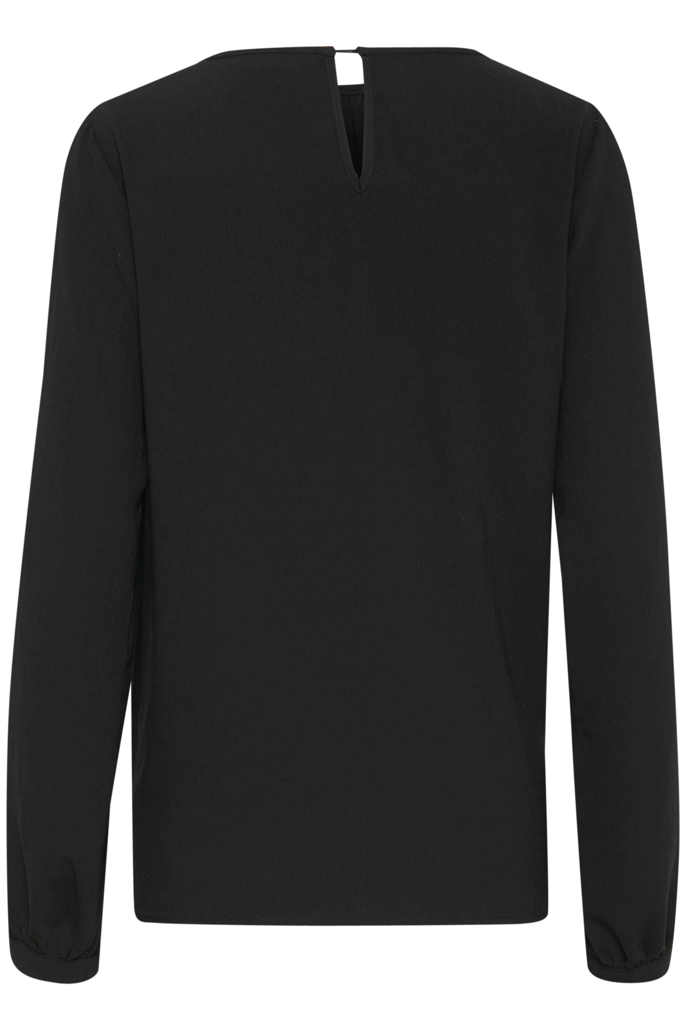 Sort Langærmet bluse fra Fransa – Køb Sort Langærmet bluse fra str. XS-XXL her