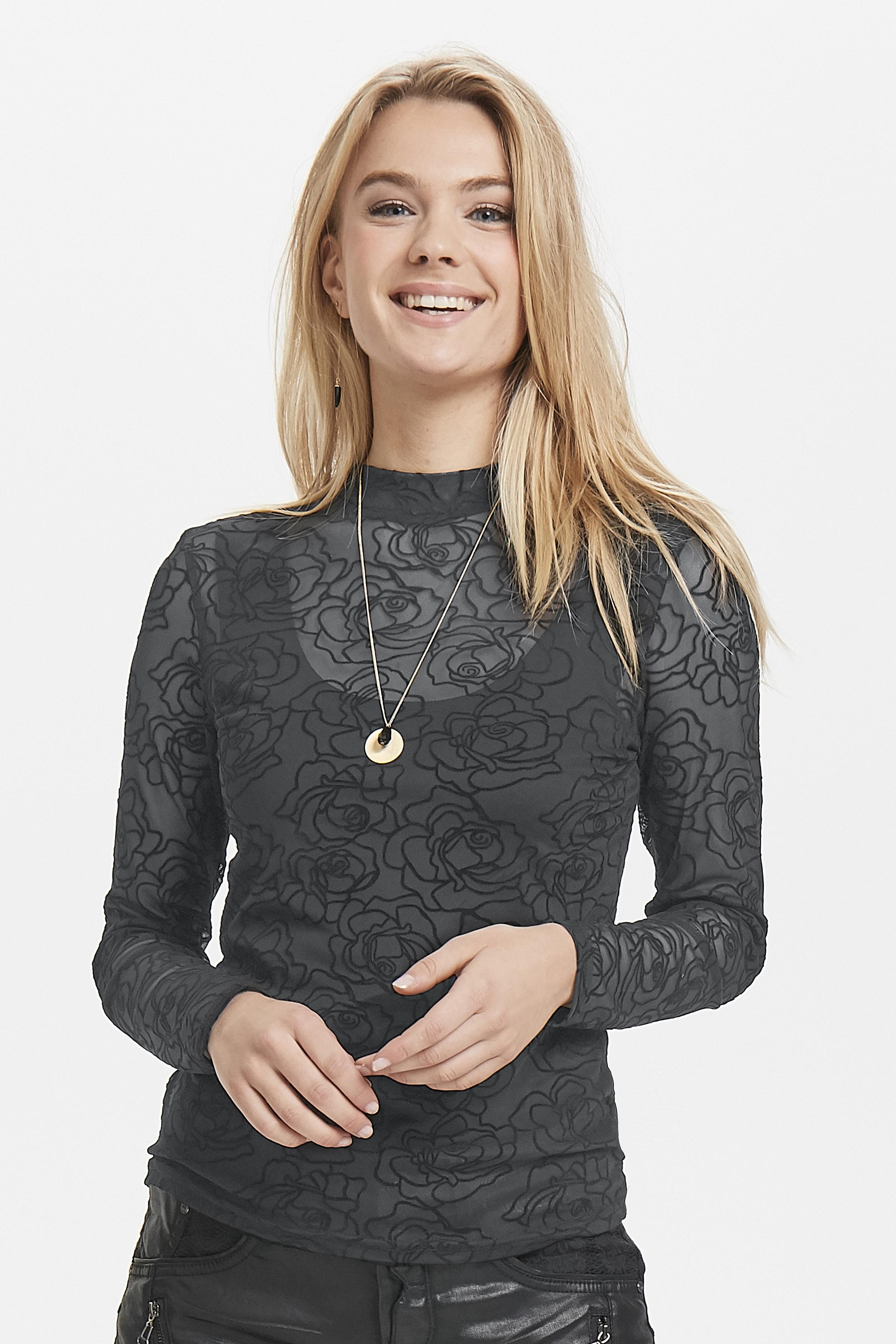 Sort Langærmet bluse fra b.young – Køb Sort Langærmet bluse fra str. XS-XXL her
