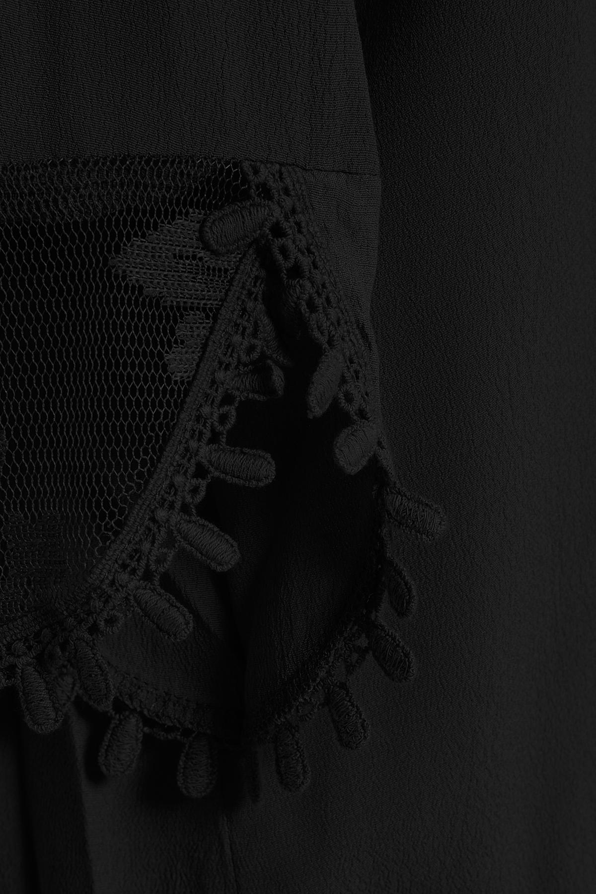 Sort Langærmet bluse fra Cream – Køb Sort Langærmet bluse fra str. 34-46 her
