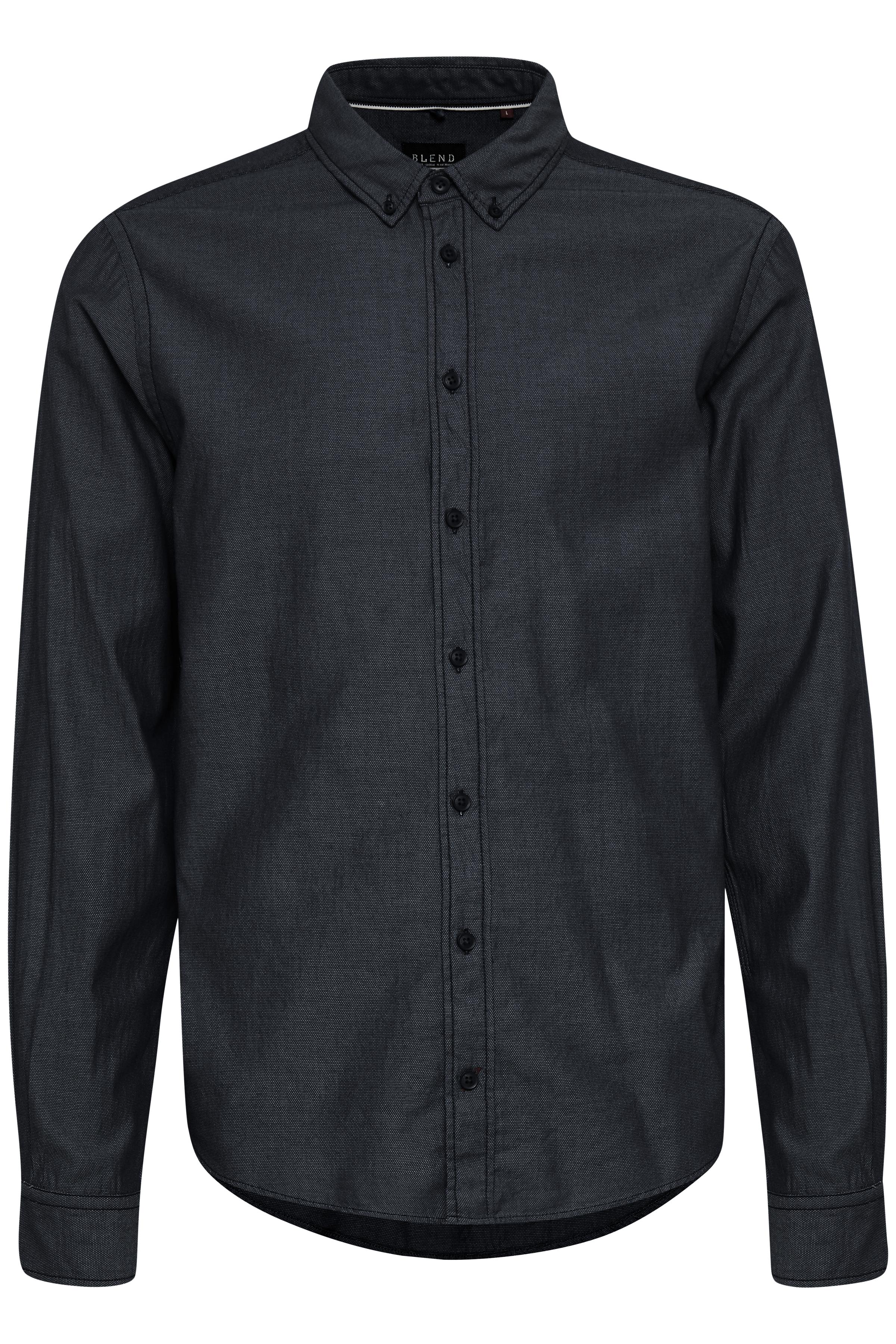 Image of   Blend He Herre Langærmet skjorte - Sort