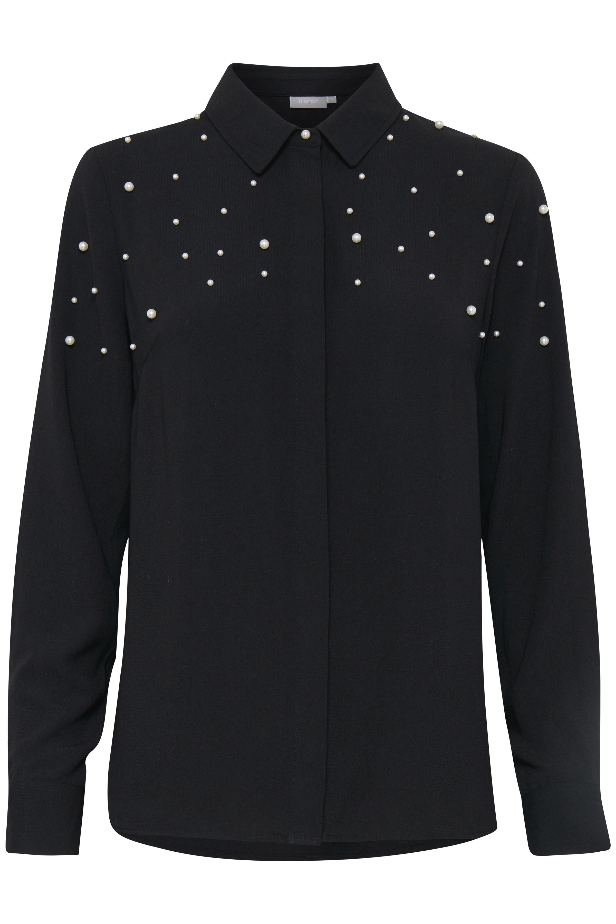 Sort Langærmet skjorte fra Fransa – Køb Sort Langærmet skjorte fra str. XS-XXL her