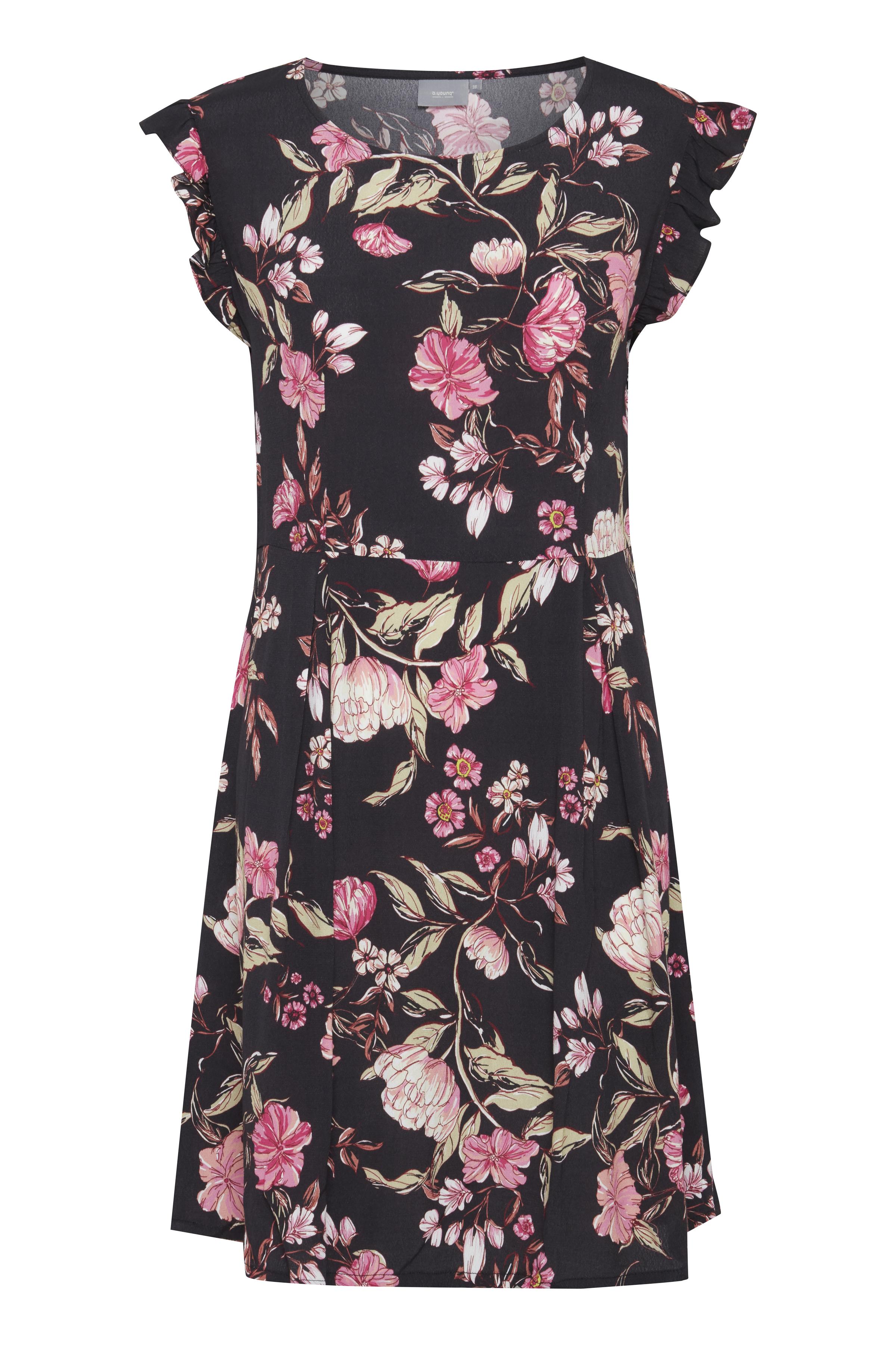 b.young Dame Smart Flilise kjole - Sort/lys pink