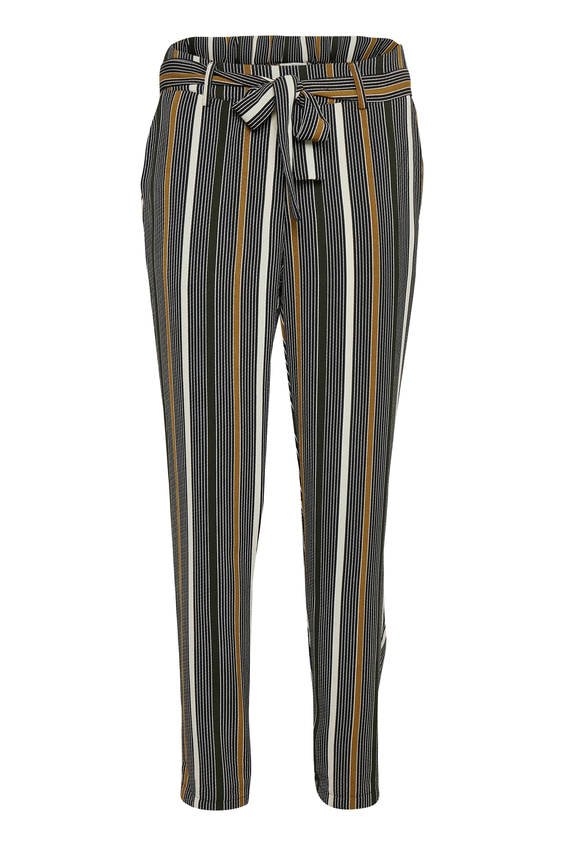 Sort/lysebrun Casual bukser fra Kaffe – Køb Sort/lysebrun Casual bukser fra str. 34-46 her