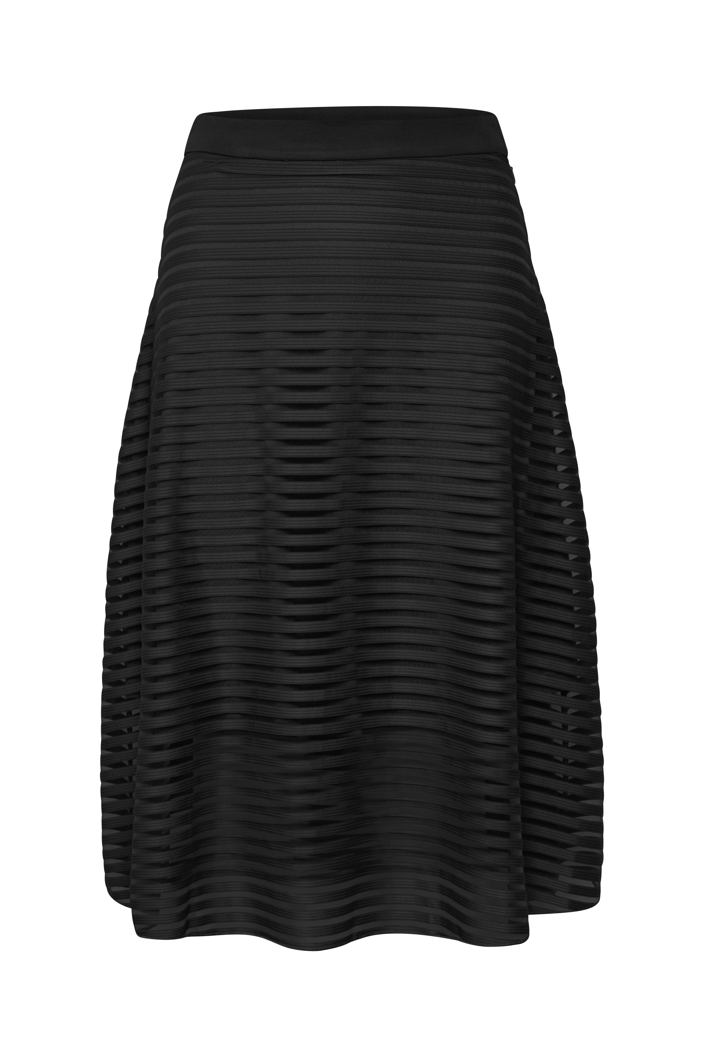 Denim Hunter Dame A-formet nederdel med lynlås i siden - Sort