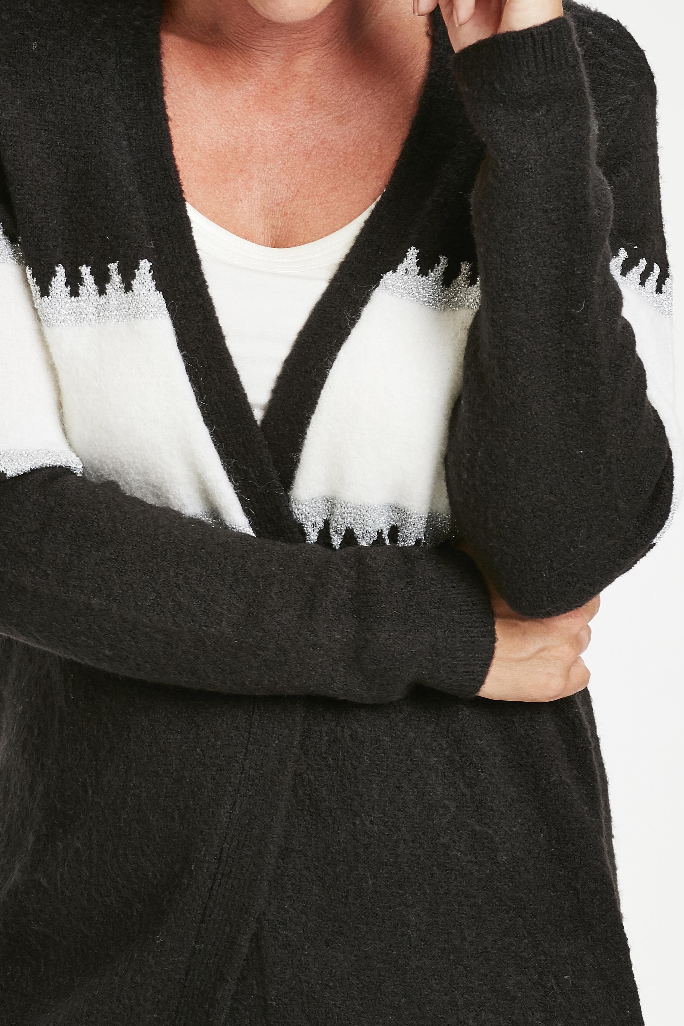 Sort/off-white Cardigan fra Fransa – Køb Sort/off-white Cardigan fra str. XS-XXL her