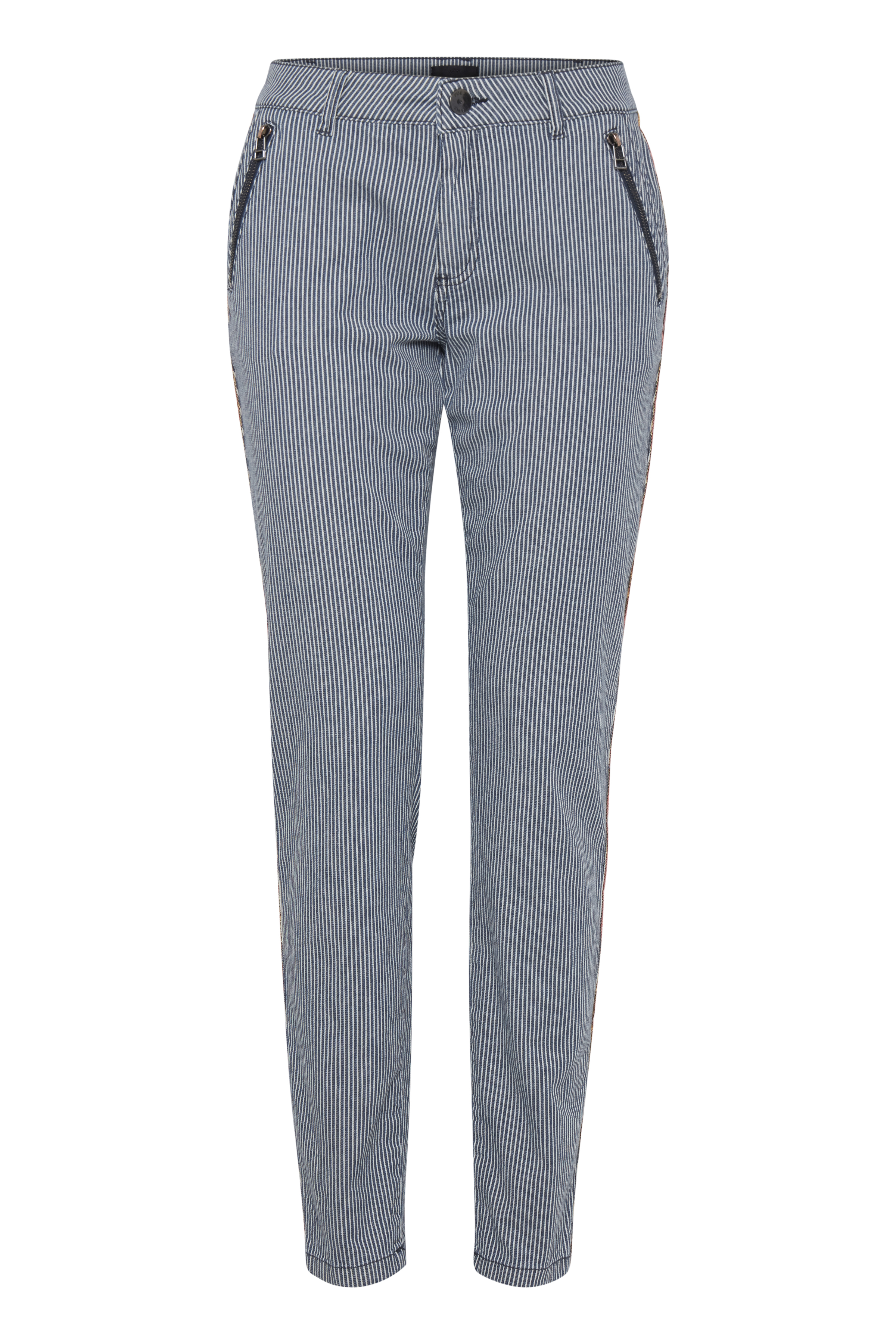 Image of Pulz Jeans Dame Casual bukser - Sort/off-white