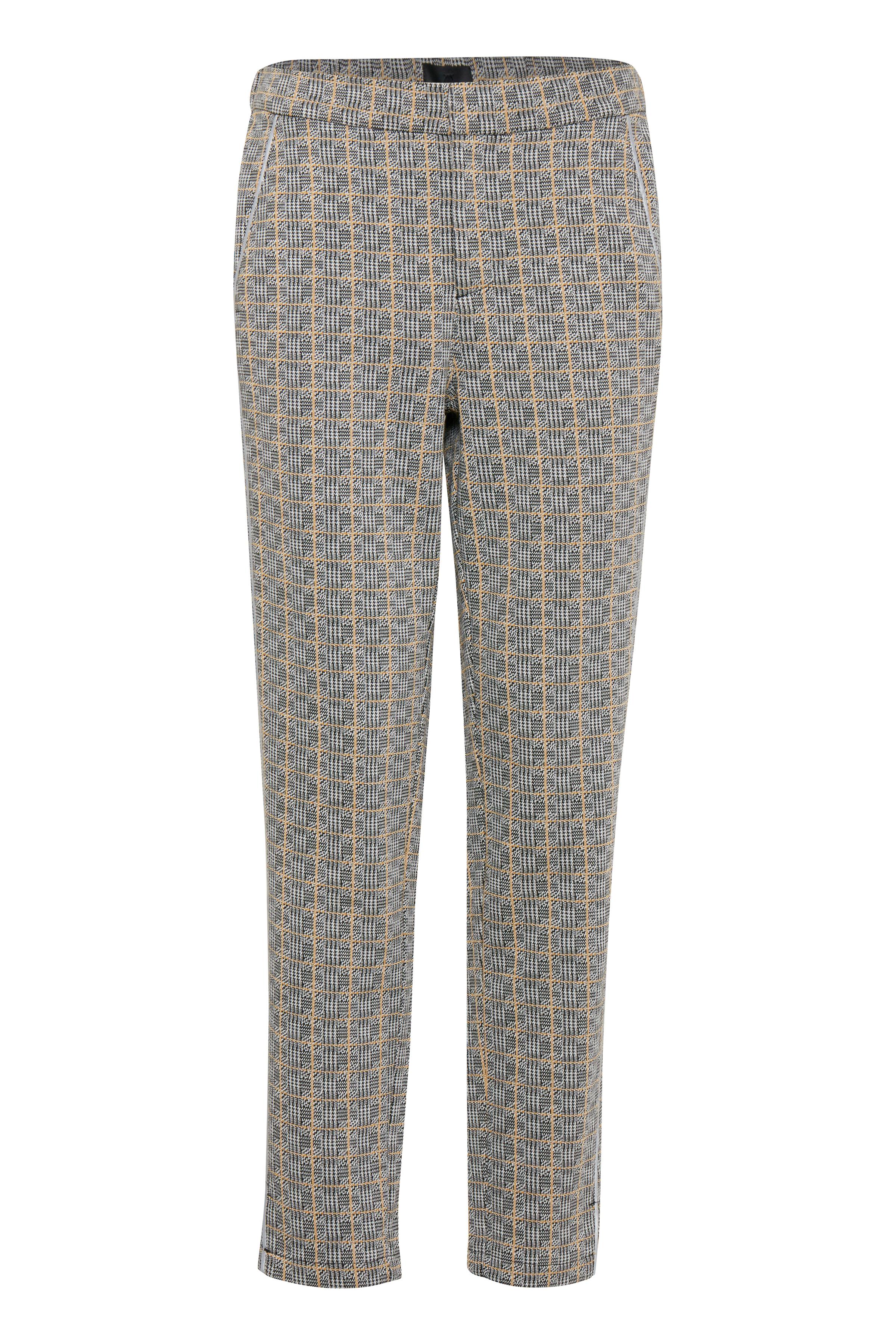 Sort/off-white Casual bukser fra Pulz Jeans – Køb Sort/off-white Casual bukser fra str. 32-46 her