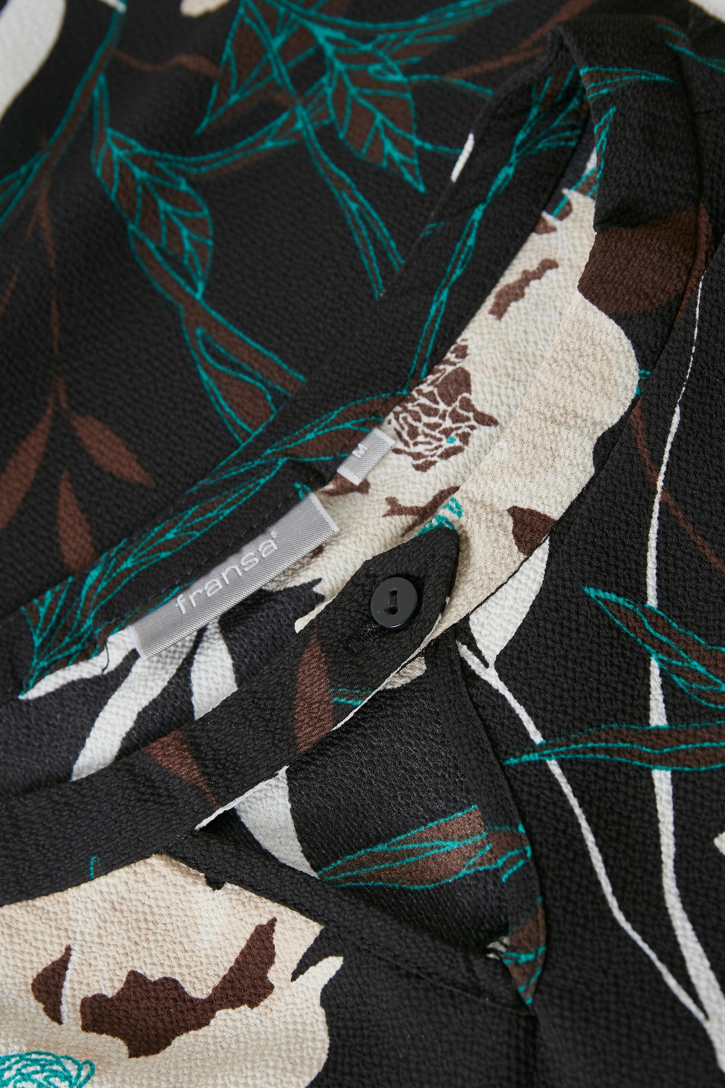 Sort/off-white Langærmet bluse fra Fransa – Køb Sort/off-white Langærmet bluse fra str. XS-XXL her