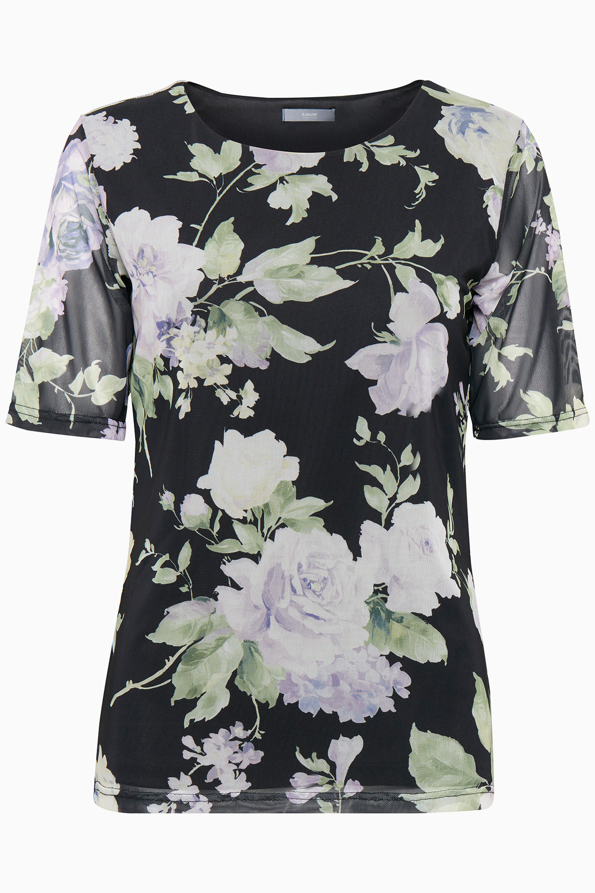 Image of b.young Dame Smuk Talay bluse - Sort/off-white