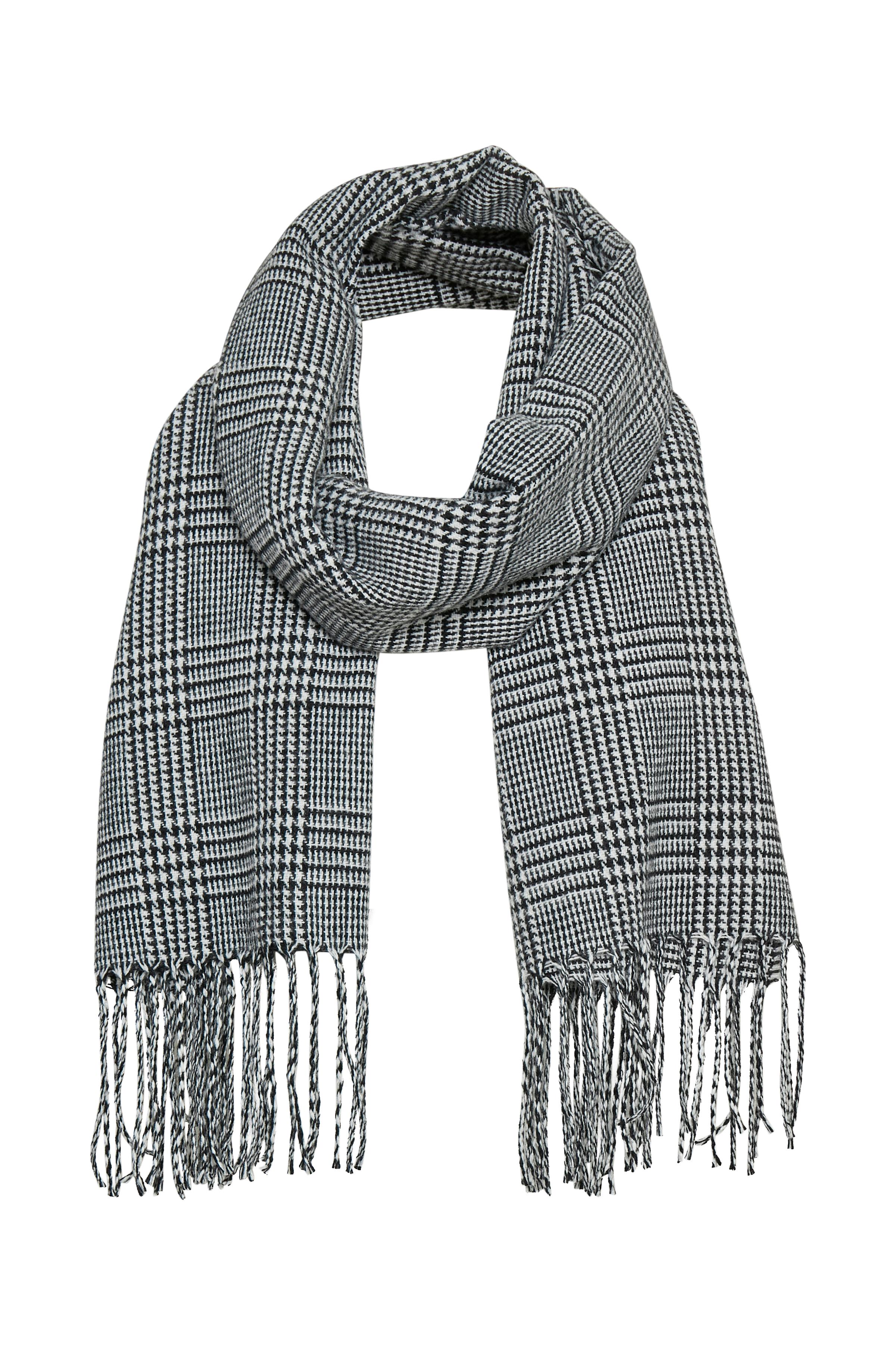 Sort/off-white Tørklæde fra b.young – Køb Sort/off-white Tørklæde fra str. ONE her