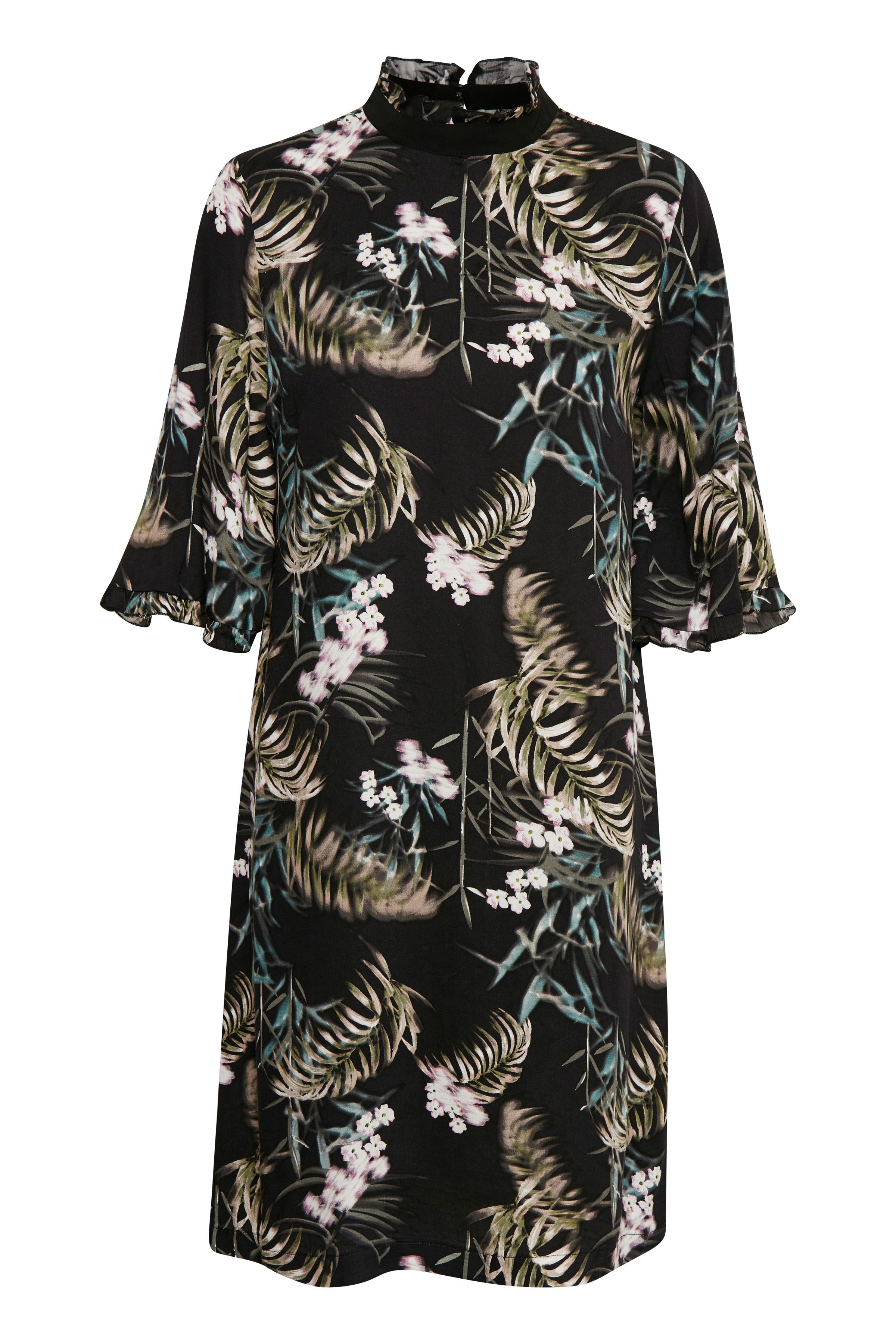 Culture Dame Elis kjole - Sort/olivengrøn