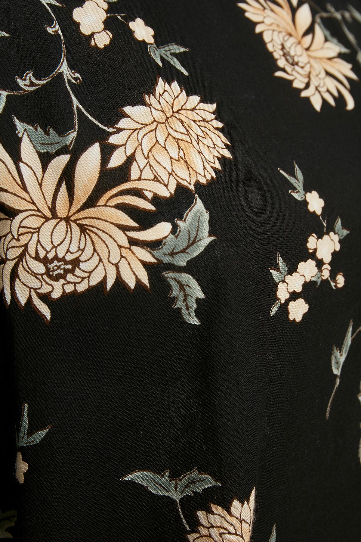 Sort/pudder Langærmet bluse fra Bon'A Parte – Køb Sort/pudder Langærmet bluse fra str. S-2XL her