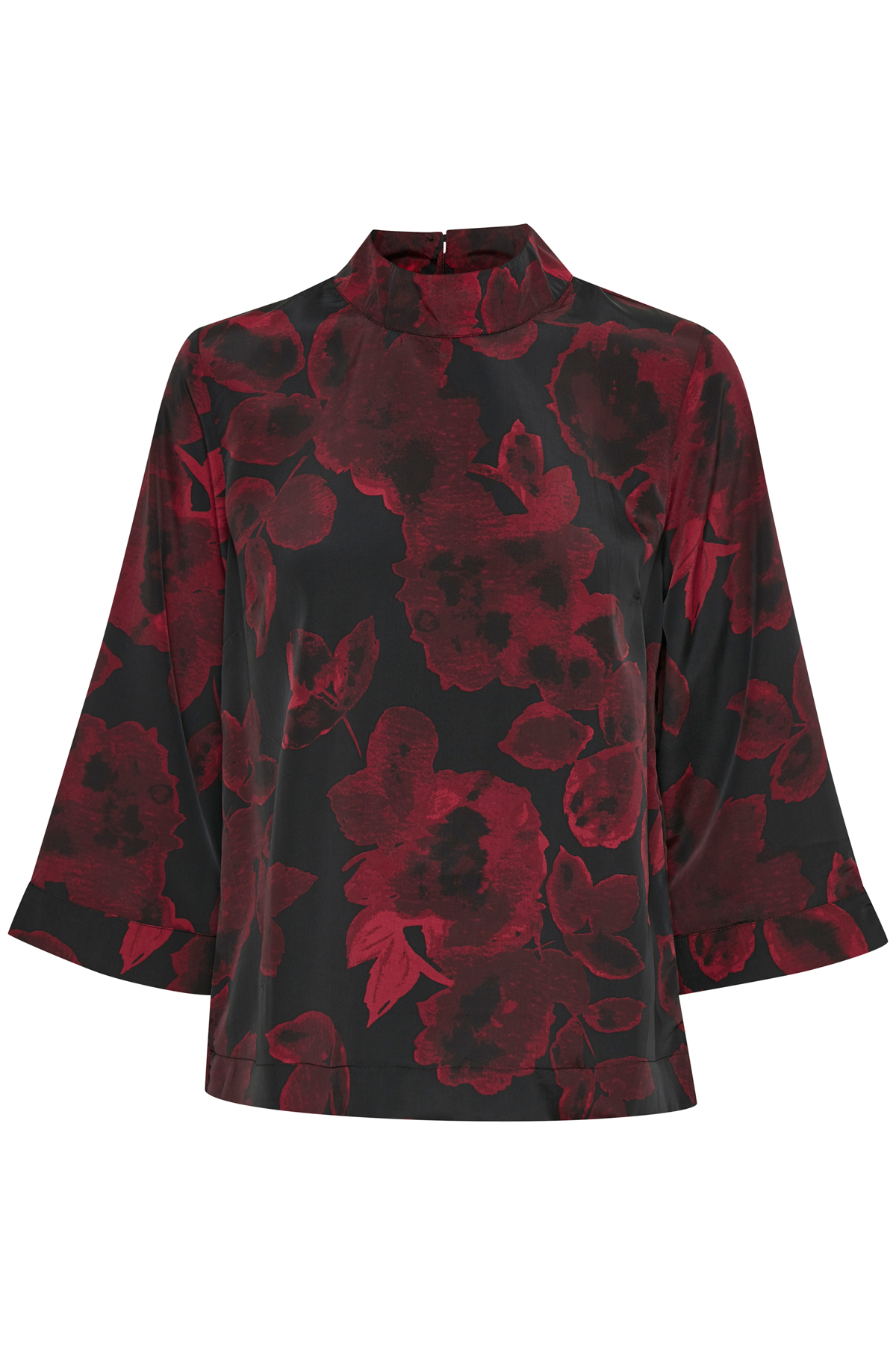 Sort/rød Kortærmet bluse fra Bon'A Parte – Køb Sort/rød Kortærmet bluse fra str. S-2XL her
