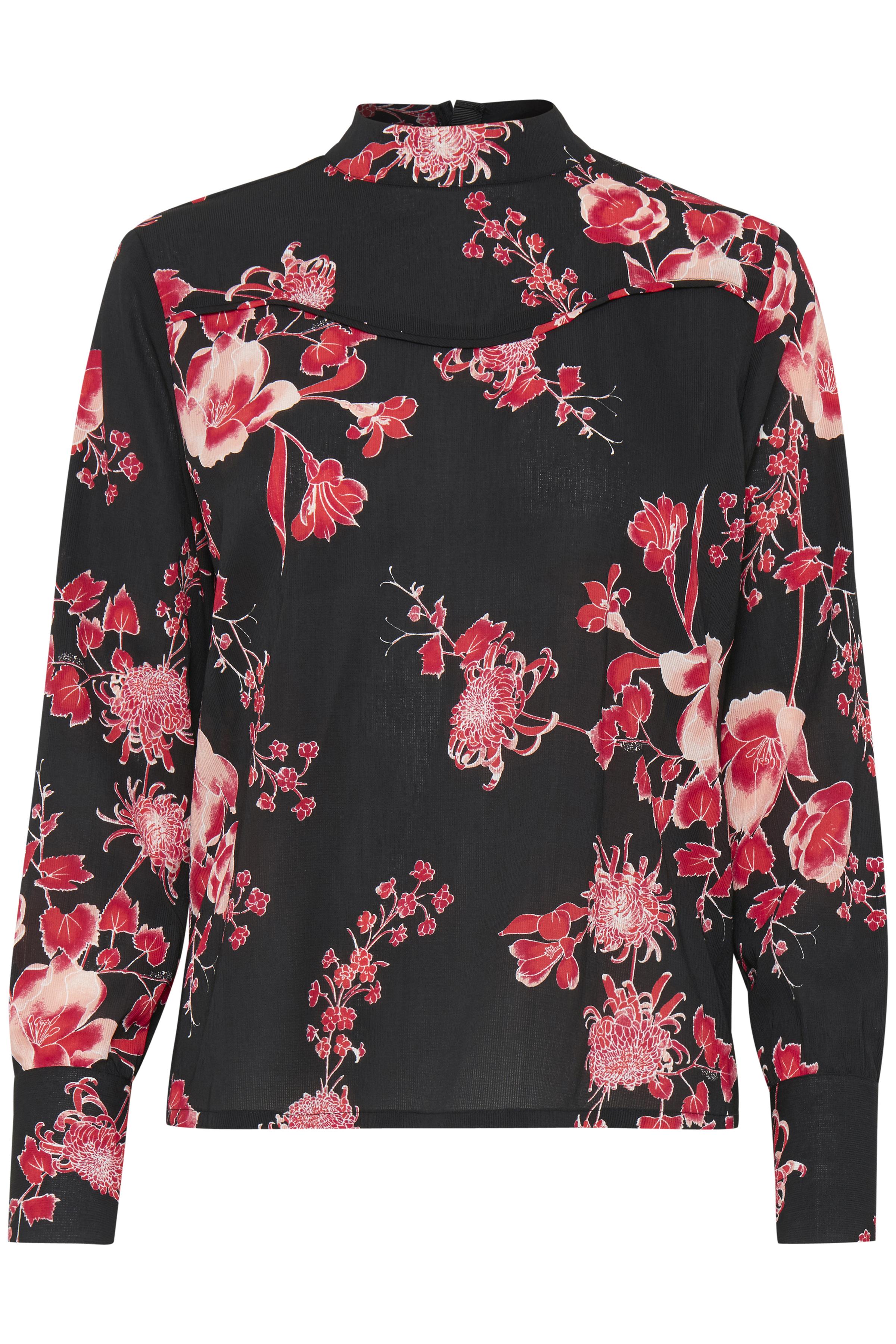 Sort/rød Langærmet bluse fra Dranella – Køb Sort/rød Langærmet bluse fra str. XS-XXL her