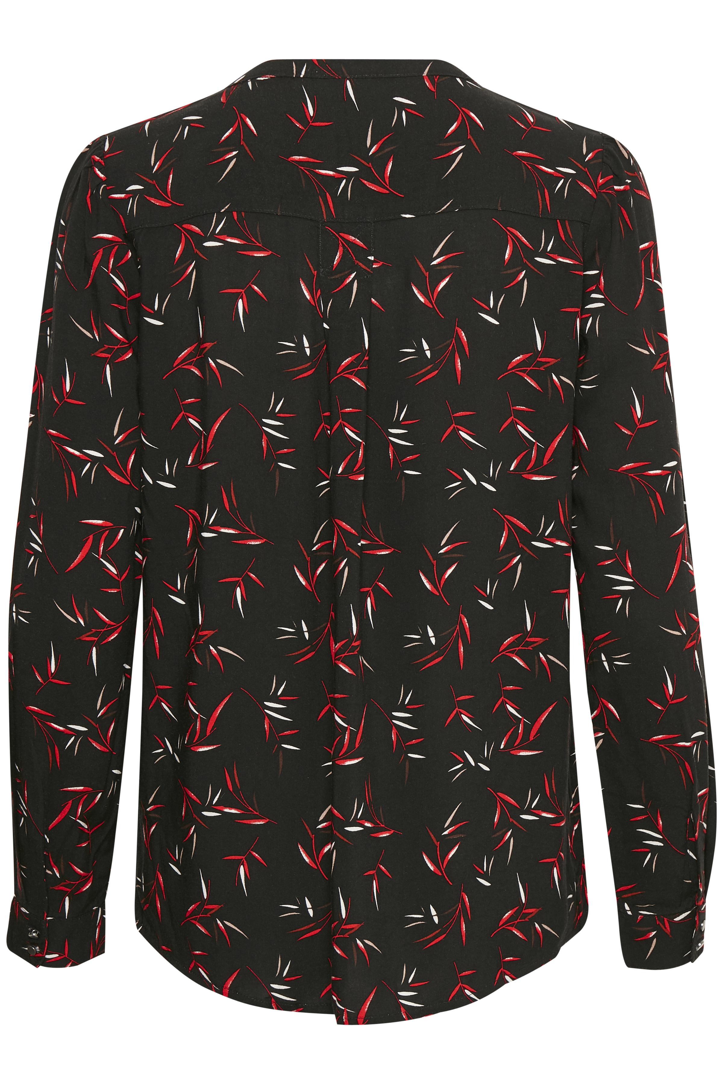 Sort/rød Langærmet bluse fra Fransa – Køb Sort/rød Langærmet bluse fra str. XS-XXL her